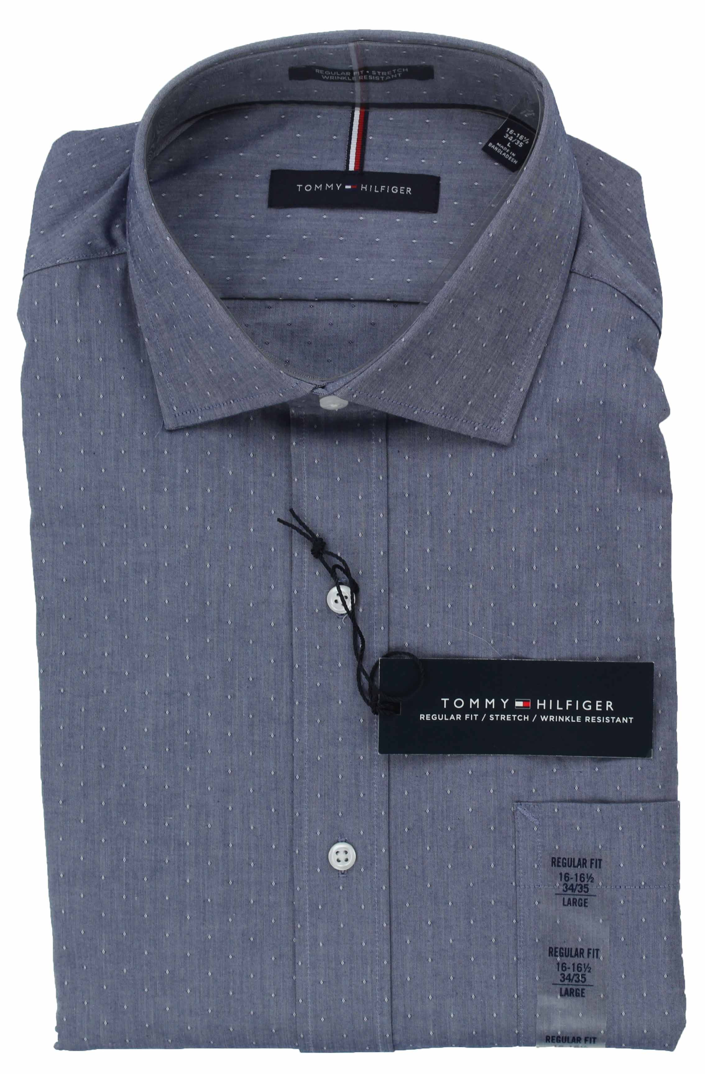 Tommy-Hilfiger-Mens-Long-Sleeve-Regular-Fit-Dress-Shirt miniature 30