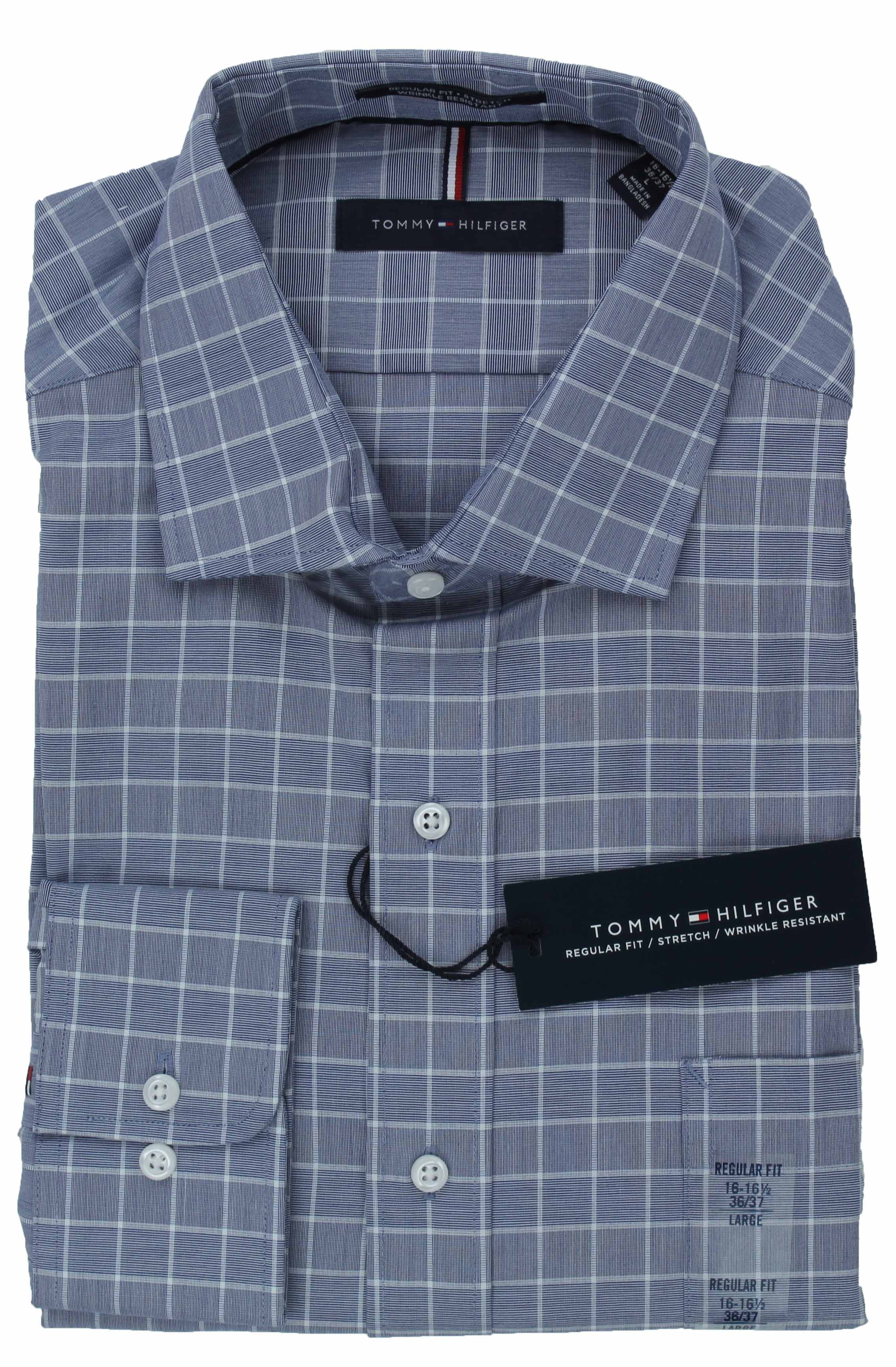 Tommy-Hilfiger-Mens-Long-Sleeve-Regular-Fit-Dress-Shirt miniature 22