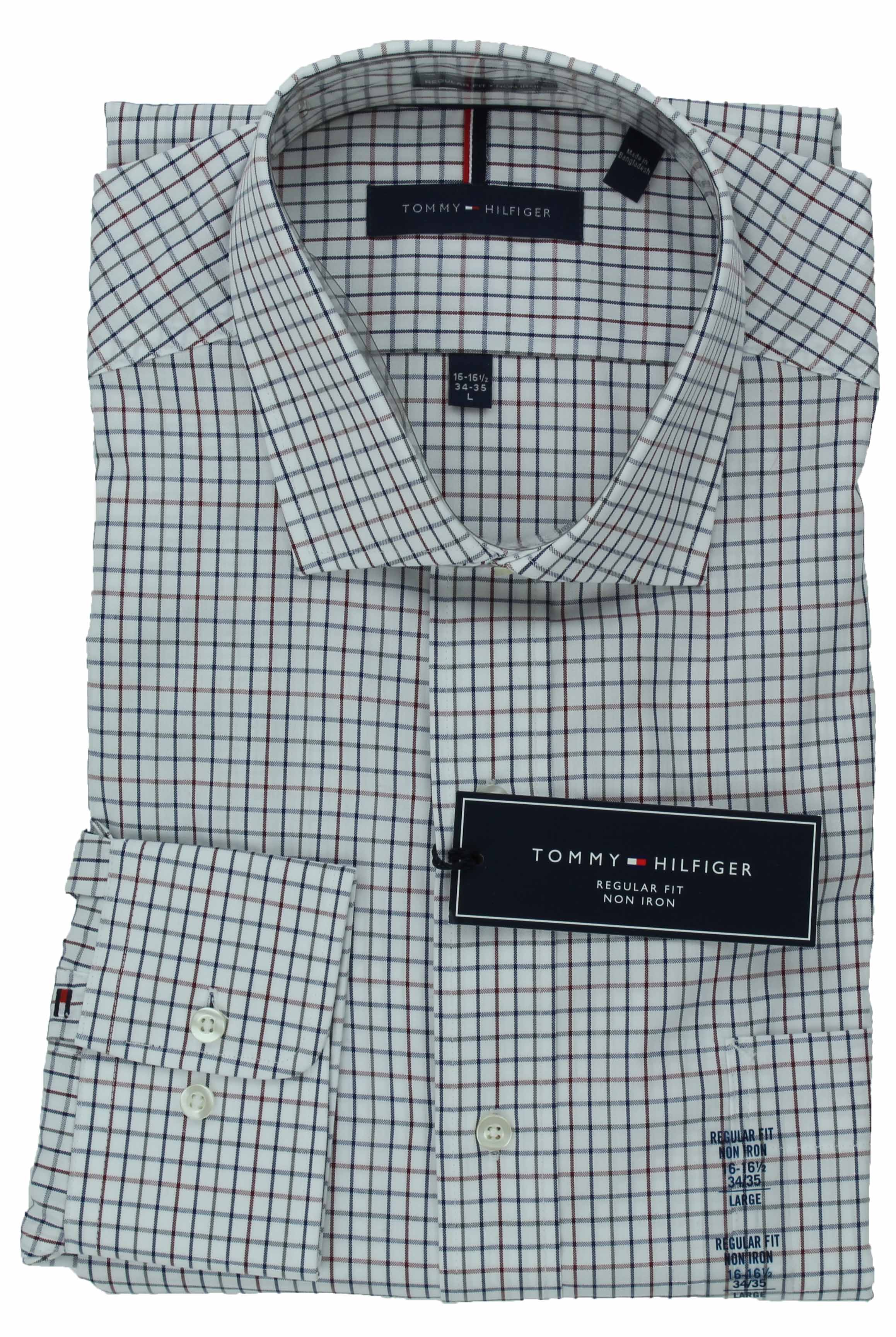 Tommy-Hilfiger-Mens-Long-Sleeve-Regular-Fit-Dress-Shirt miniature 35