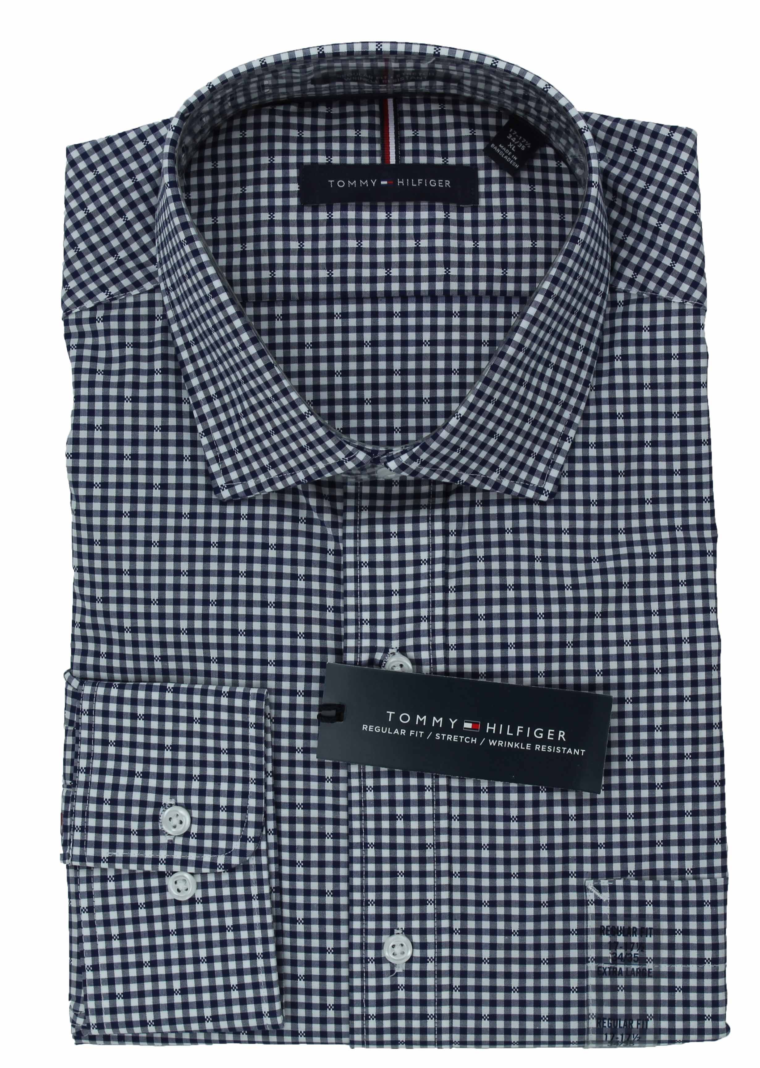 Tommy-Hilfiger-Mens-Long-Sleeve-Regular-Fit-Dress-Shirt miniature 17