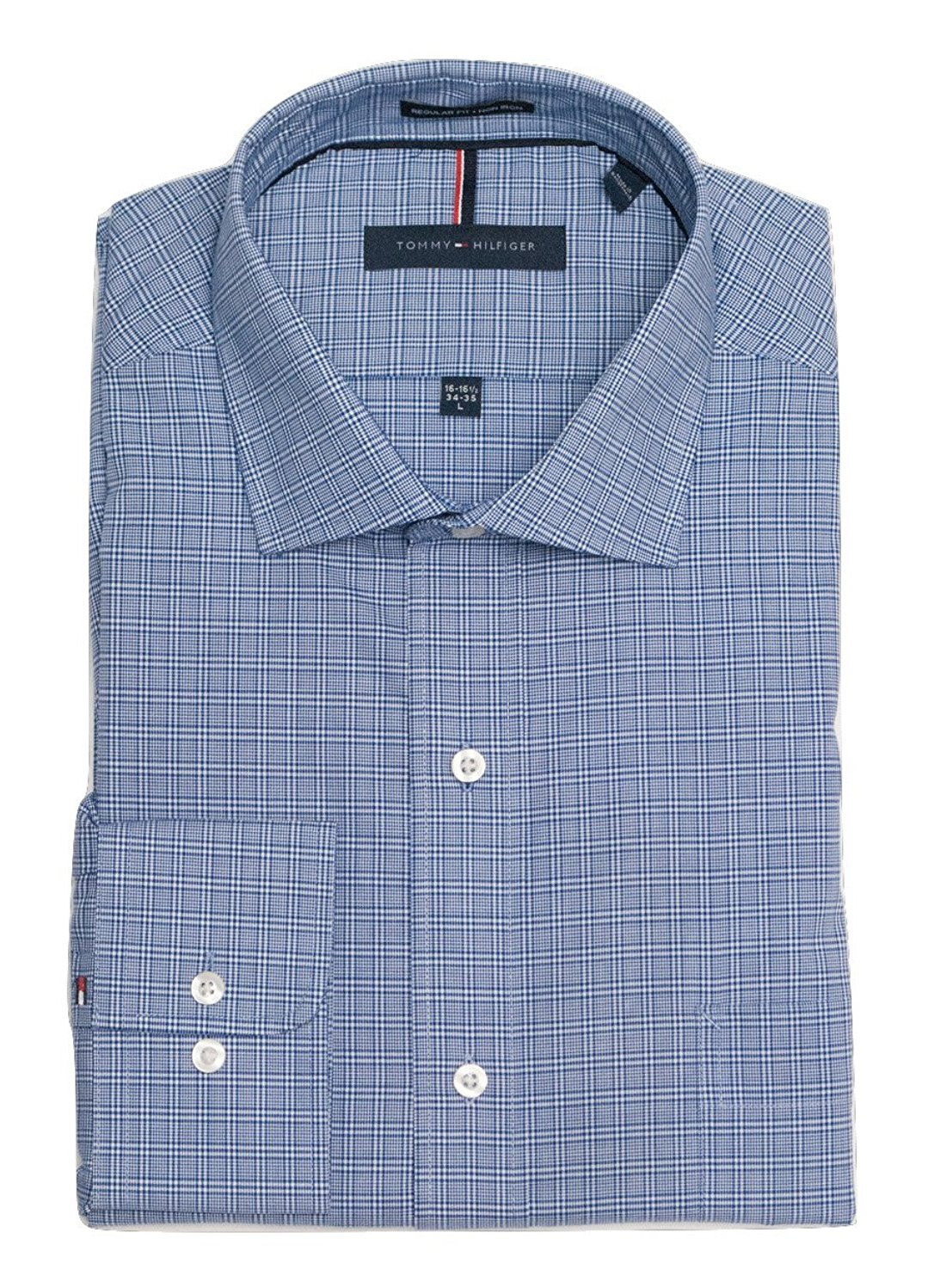 Tommy-Hilfiger-Mens-Long-Sleeve-Regular-Fit-Dress-Shirt miniature 37