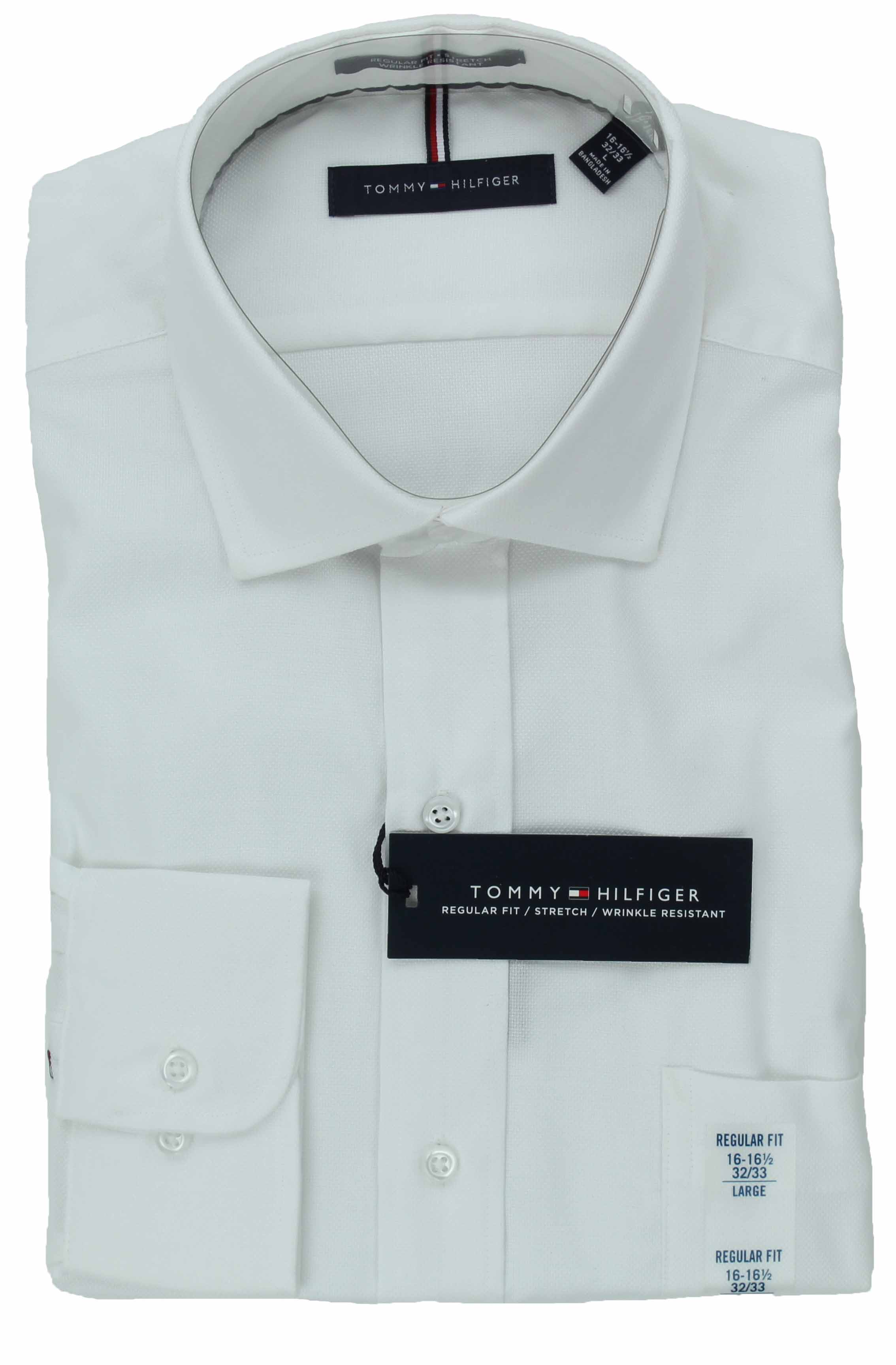 Tommy-Hilfiger-Mens-Long-Sleeve-Regular-Fit-Dress-Shirt miniature 7