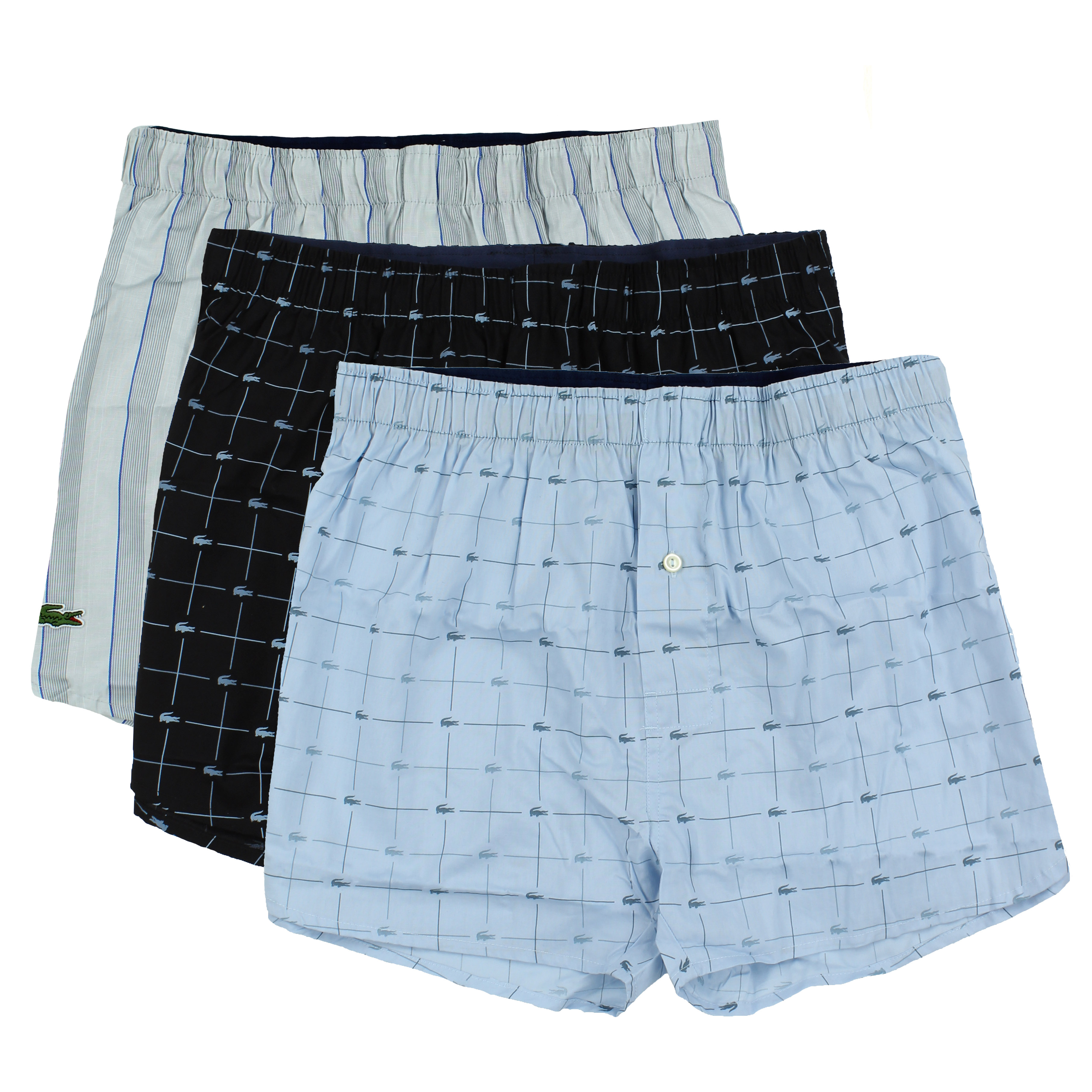 fcdbfd3aa70d Lacoste Men s 3 Pack Cotton Woven Boxers