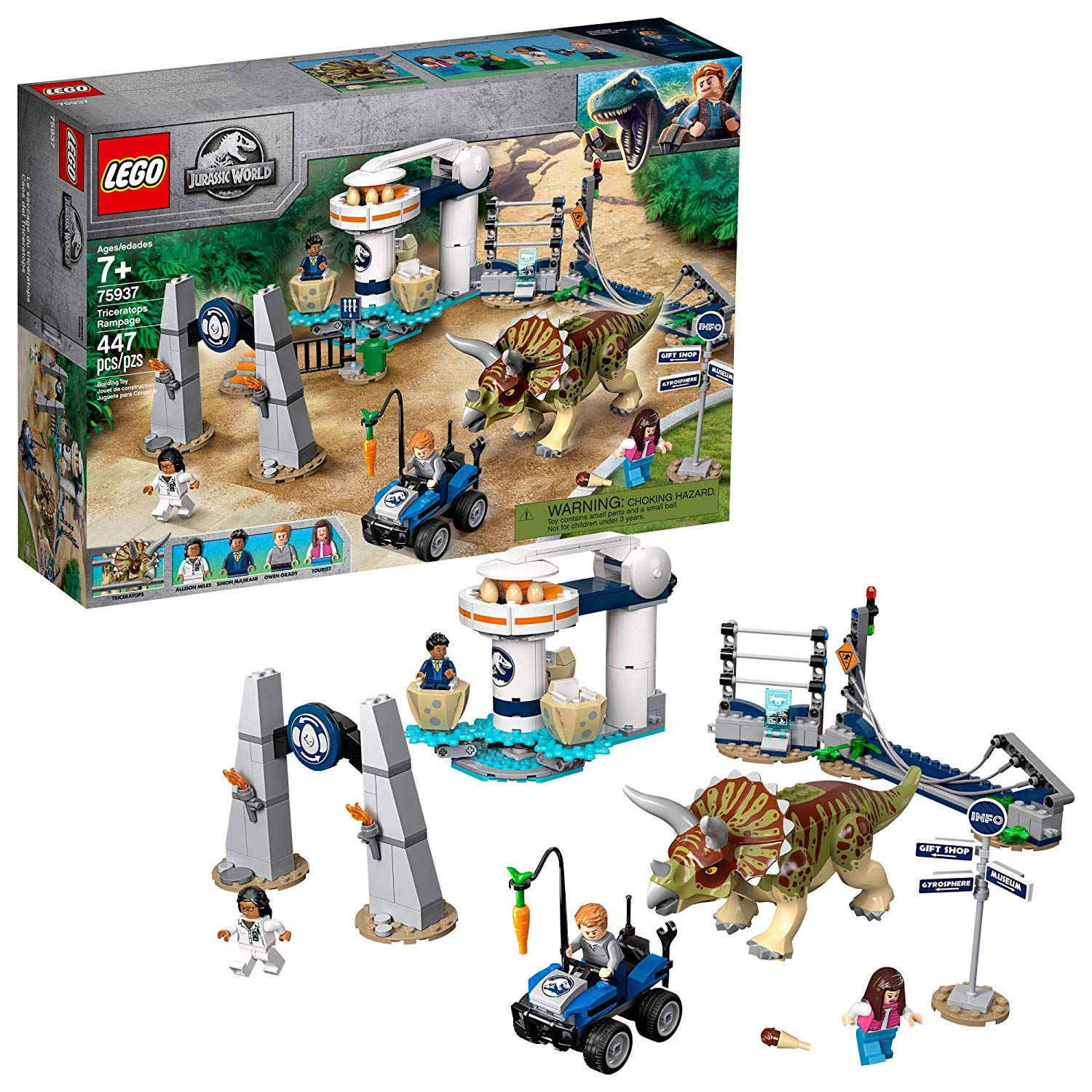 LEGO Jurassic World Triceratops Rampage Building Toy ...