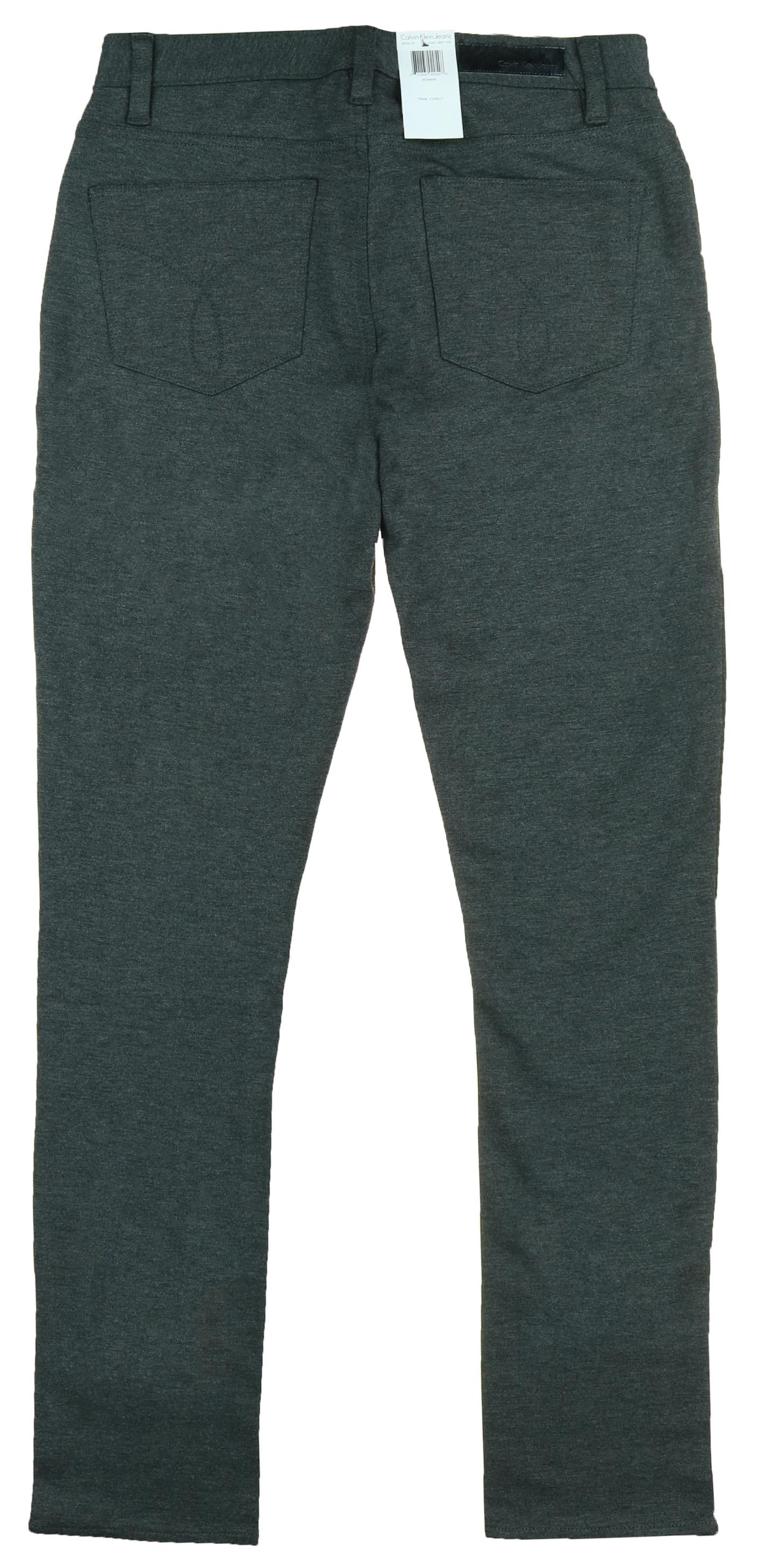 b0818d52e9a59 Calvin Klein Jeans Women's 5 Pocket Ponte Legging Charcoal Gray ...
