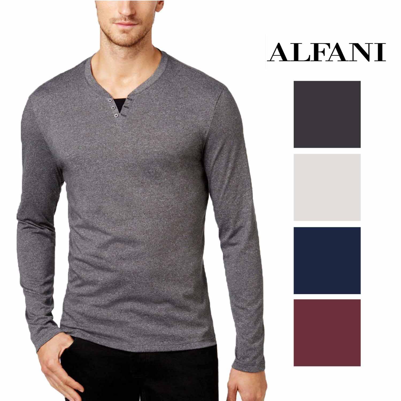 Alfani Mens Crewneck Heathered Tee Casual Shirt Shirt BHFO 2854