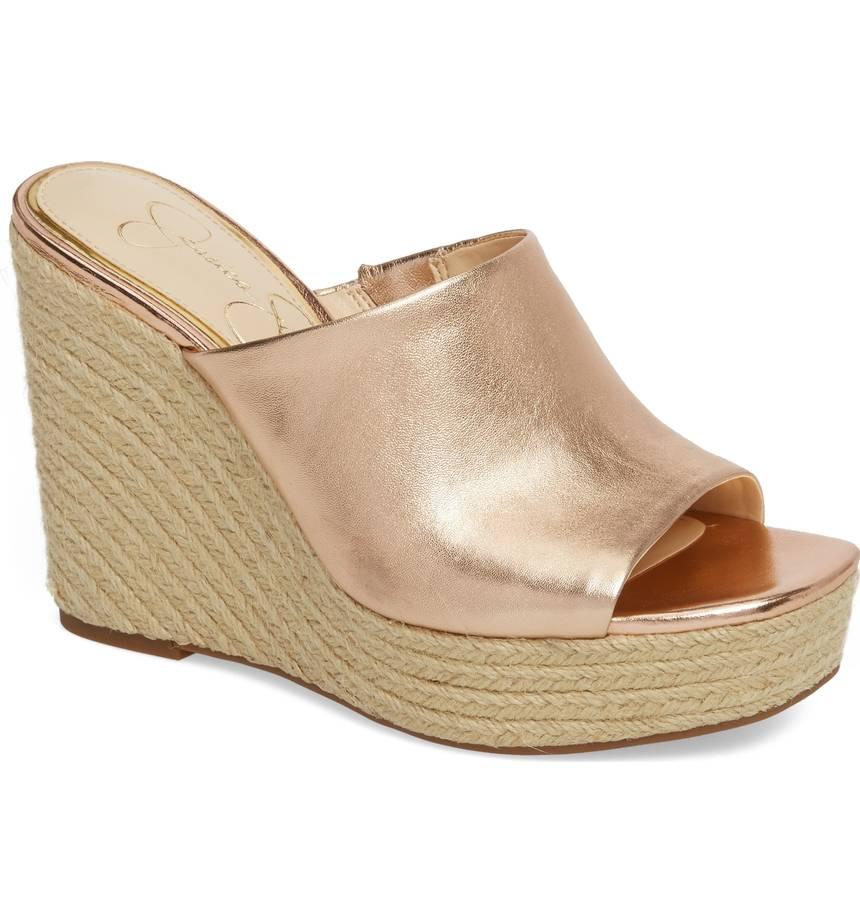 502dbbd492f Details about Jessica Simpson Womens Sirella Platform Wedge Slide Sandal