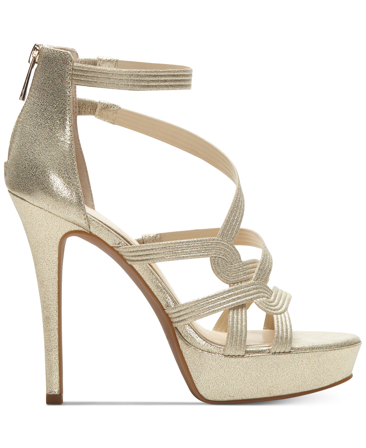Women Jessica Simpson Bellanne Pale Gold High Heel Platform Pump ...