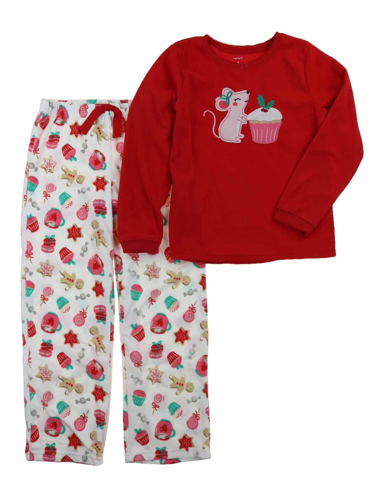 e8cc1df205 Carters Girls 2 Piece Pajamas Shirt and Pant Sleepwear