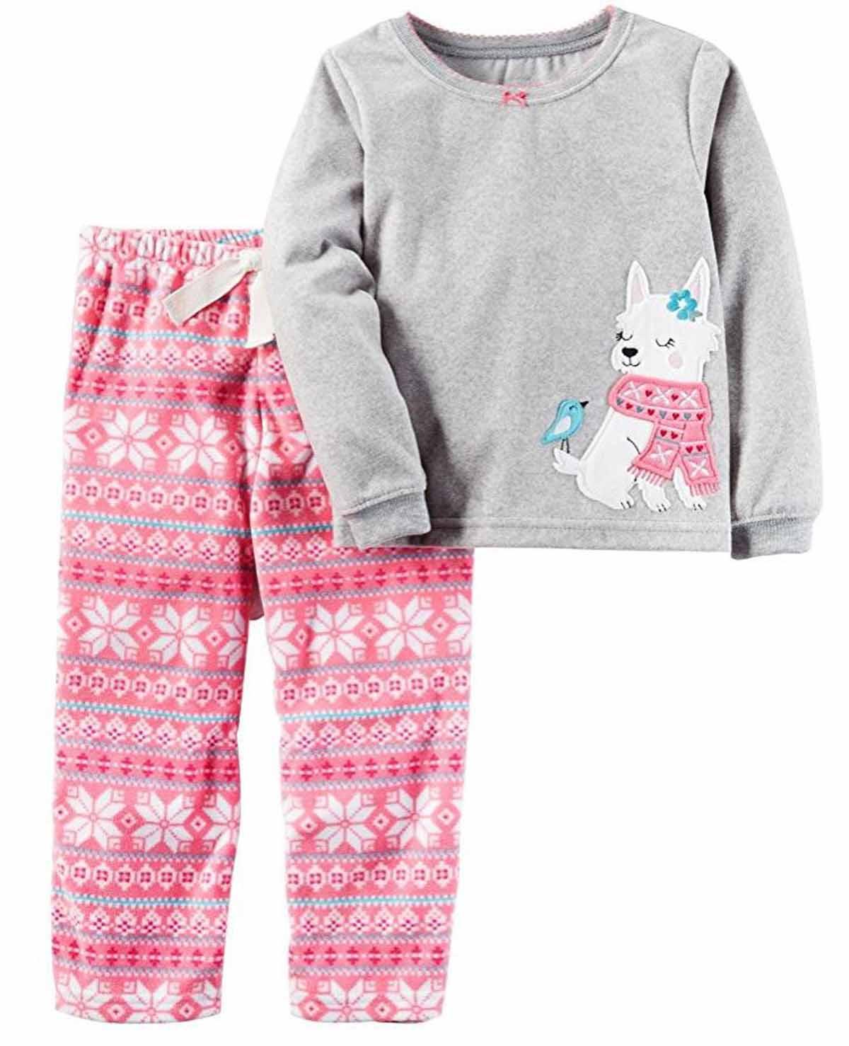b9bacc97cbd8 Carters Girls 2 Piece Pajamas Shirt and Pant Sleepwear