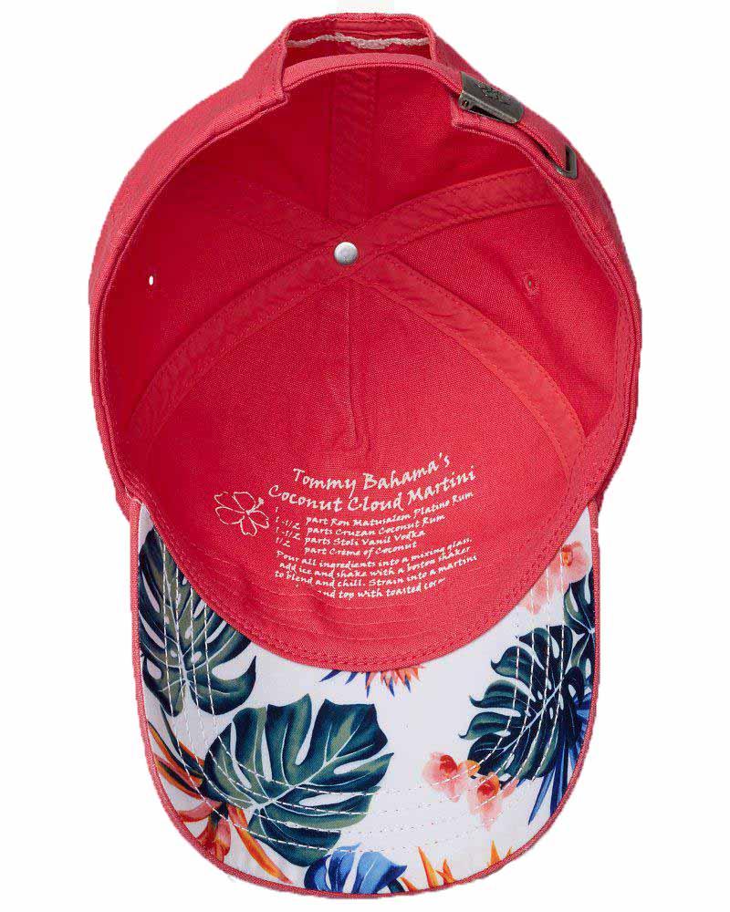 Tommy Bahama Womens Baseball Cap Floral Marlin Hat Coconut Martini Drink Recipe