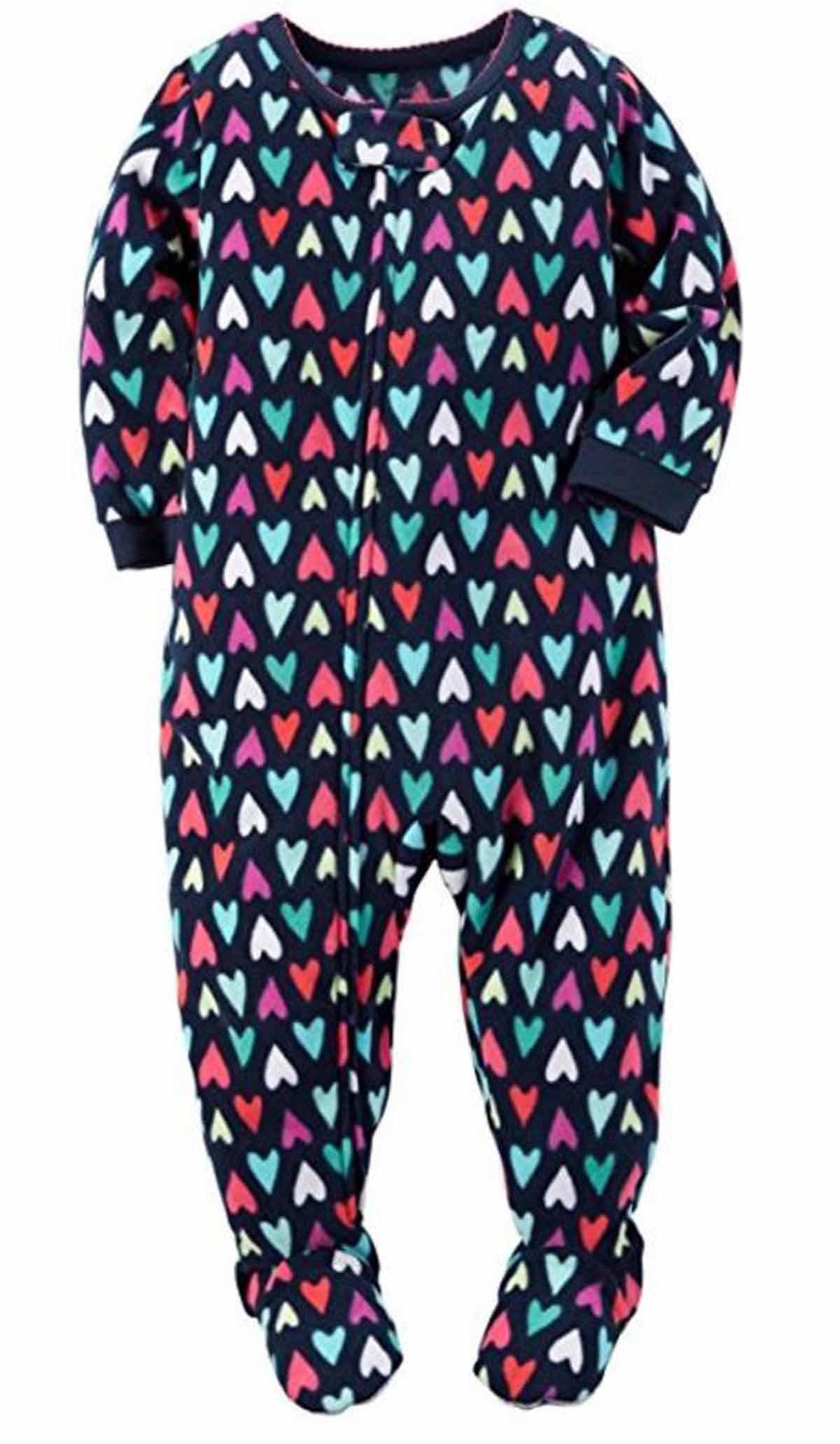 2a832f5f7 Carters Girls 1 Piece Footed Sleeper Zip Up Fleece Pajama