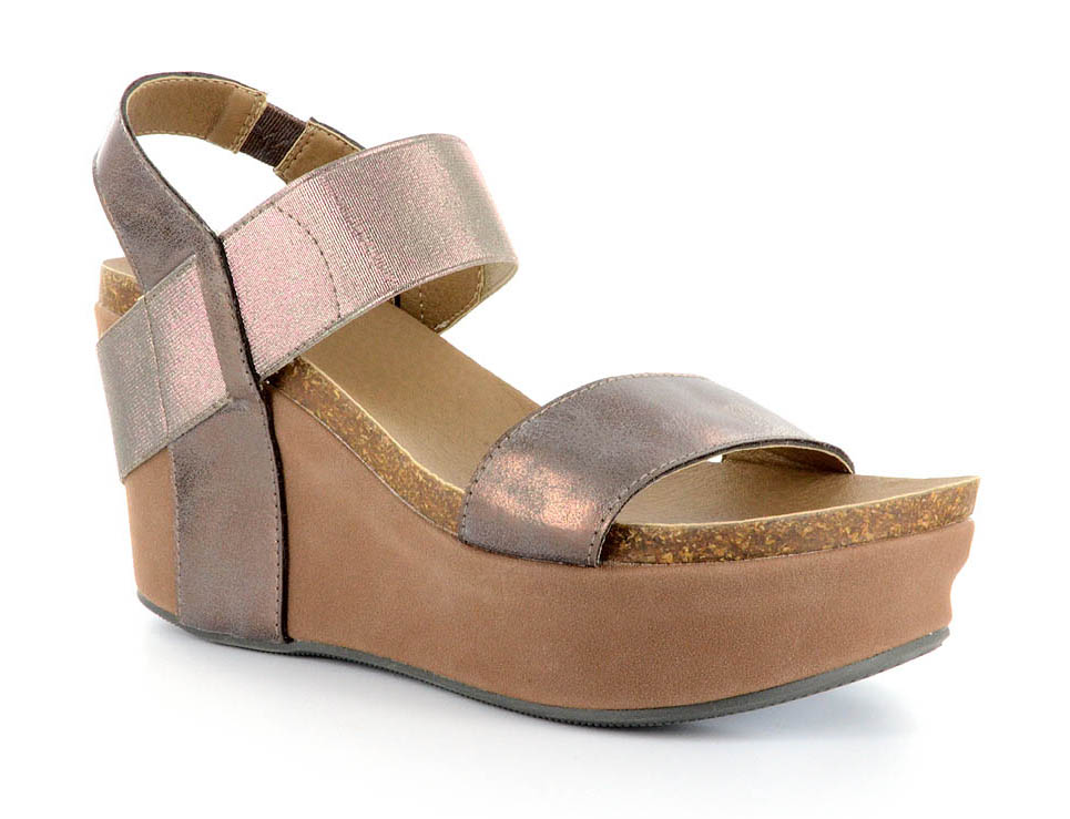 8ba3f67a7d62 Corkys Footwear Womens Thick Leather Strap Wedge Heel Sandal