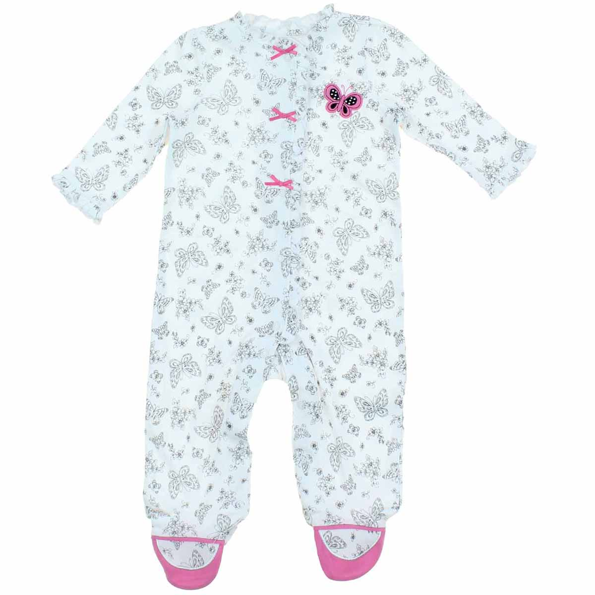 7f38077f3 LITTLE ME Baby or Toddler Girls 1-Piece Snug Fitting Sleeper Pajama ...