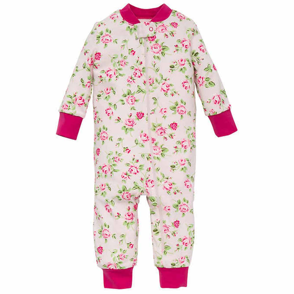 bb9a32080 LITTLE ME Baby or Toddler Girls 1-Piece Snug Fitting Sleeper Pajama ...
