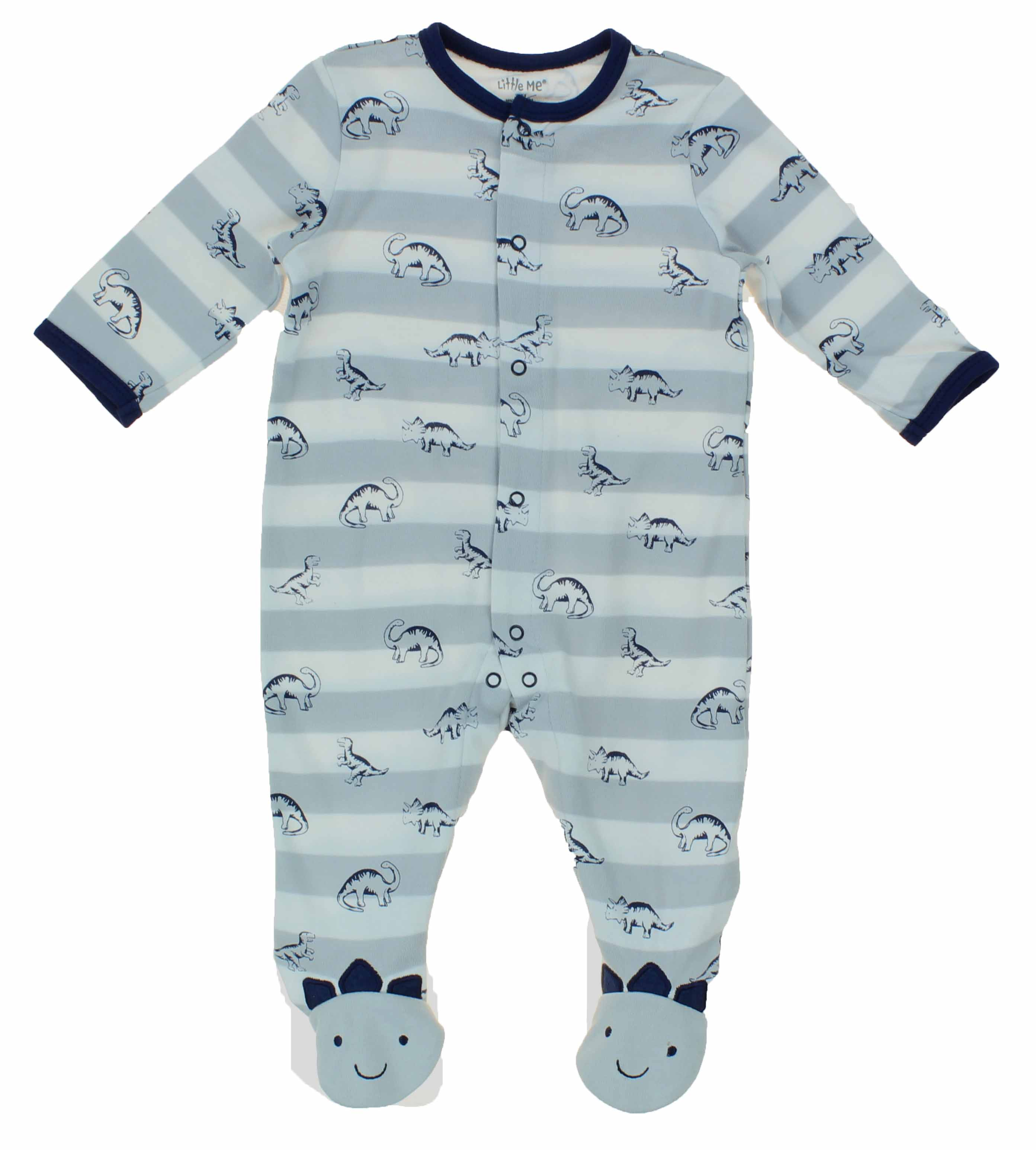 54379a7f0793 Little Me Baby Boys Size 3 Months 1 Piece Long Sleeve Footed Pajama ...