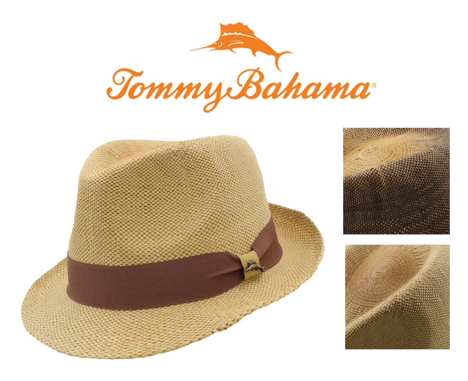 Tommy Bahama Mens Linen Fedora NWOT Brown, L//XL