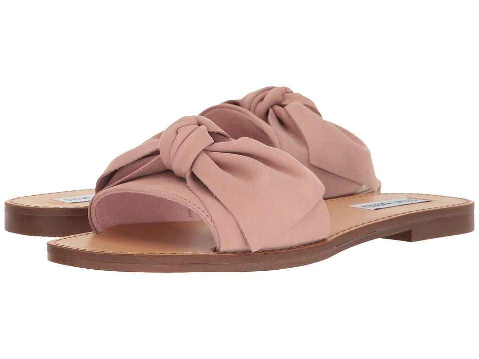 479f701a296a01 Steve-Madden-Womens-Knotss-Bow-Flat-Slide-Sandals thumbnail