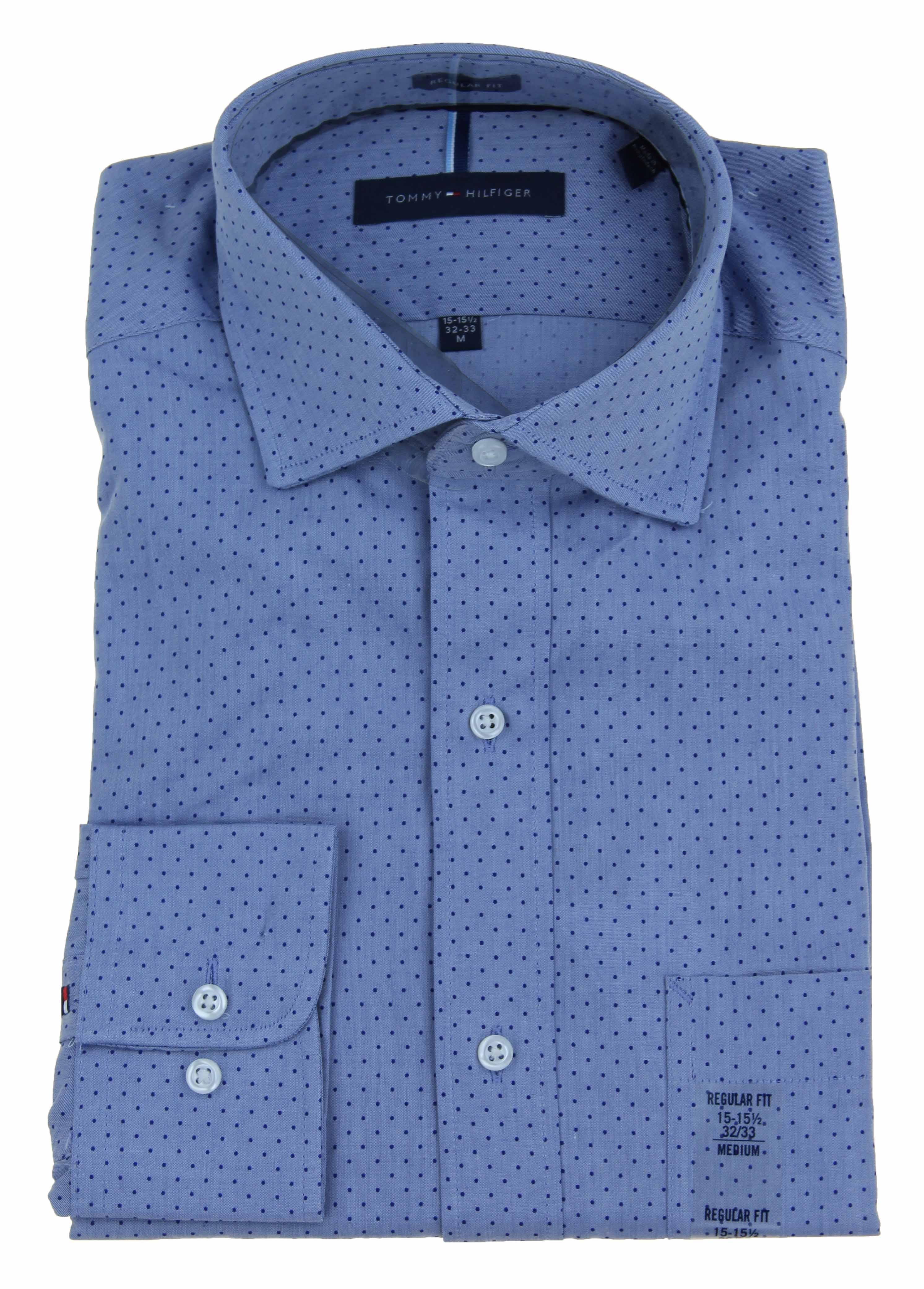 cb5d53ea53fc9 Tommy-Hilfiger-Mens-Indigo-Regular-Fit-Dress-Shirt thumbnail