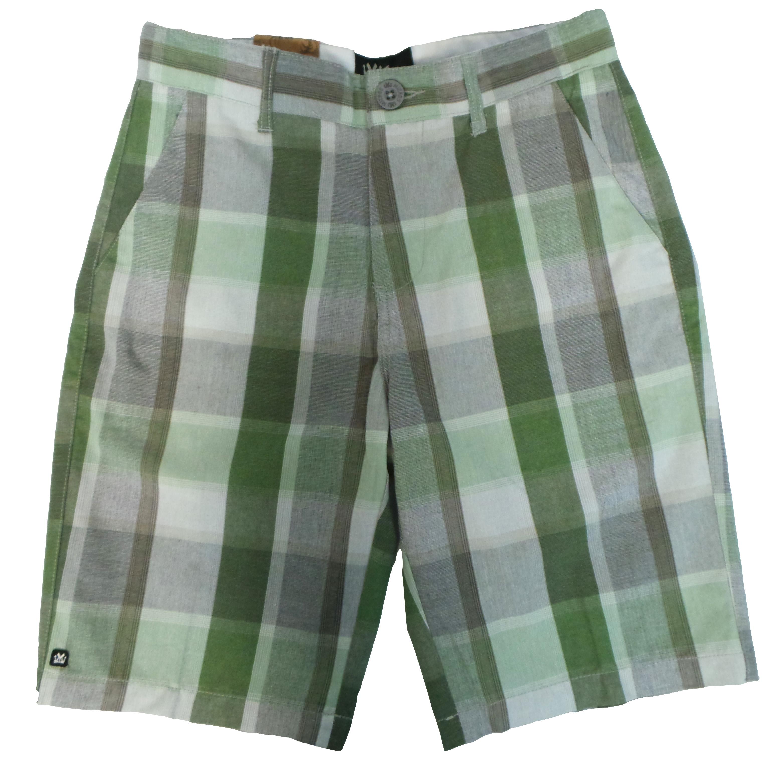 Micros Boys Navy Green Plaid Merlin Walking Shorts Choose Size