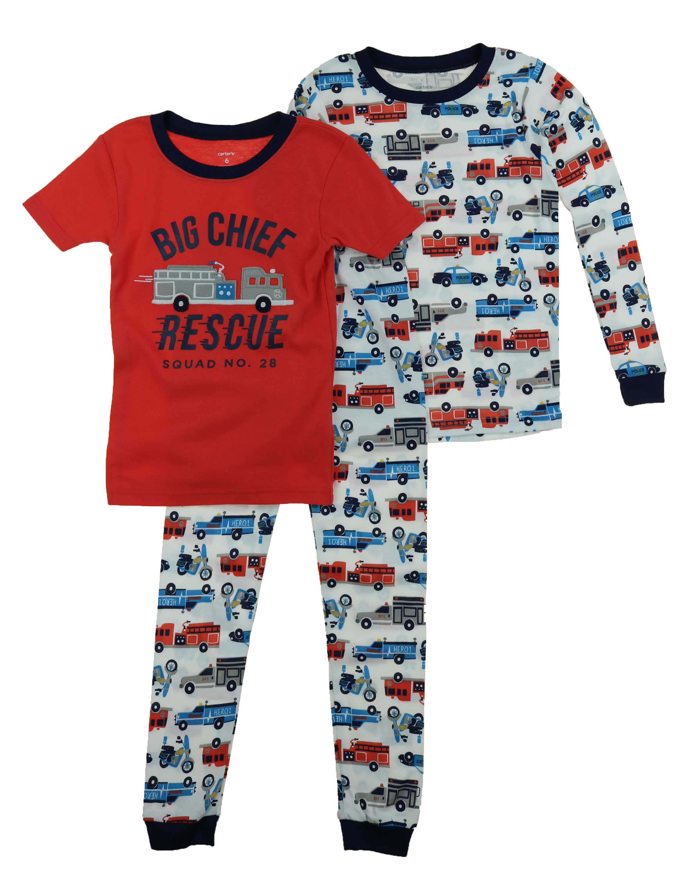 6a091cb48fbc Carters Little Boys 3 Piece Jersey Cotton Pajama Sleepwear Set