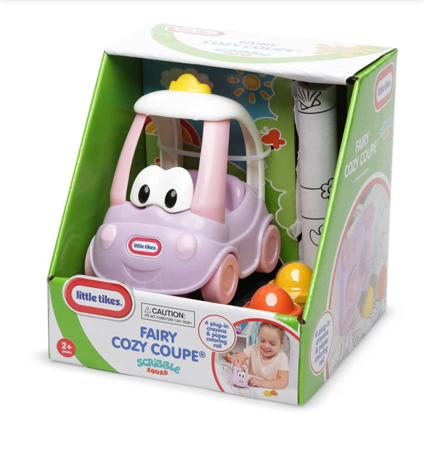 Little Tikes Fairy Cozy Coupe Scribble Squad With 4 Crayons ...
