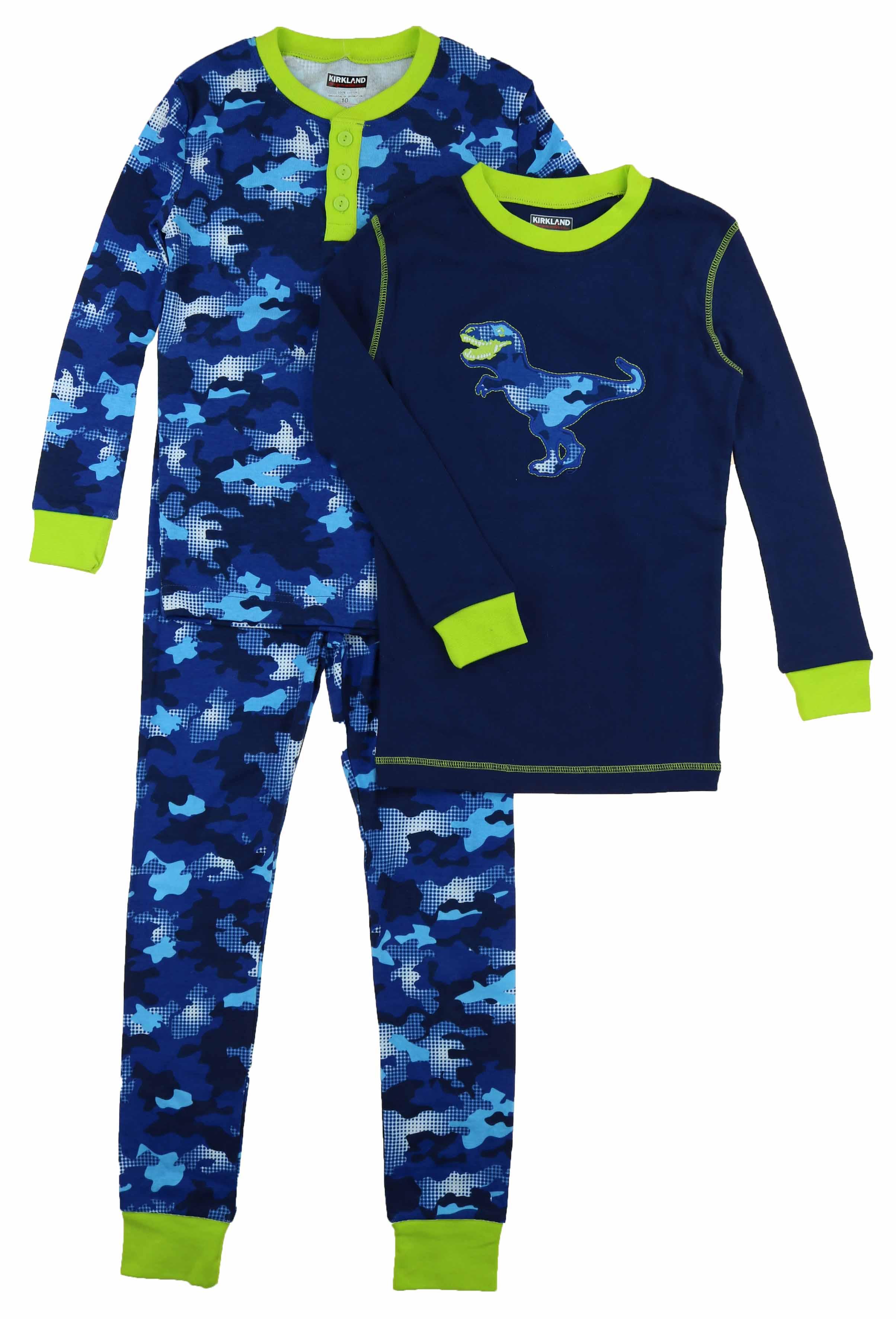 fa540e9d7 Kirkland Signature Boy s 3 Piece Mix and Match Organic Cotton Pajama ...