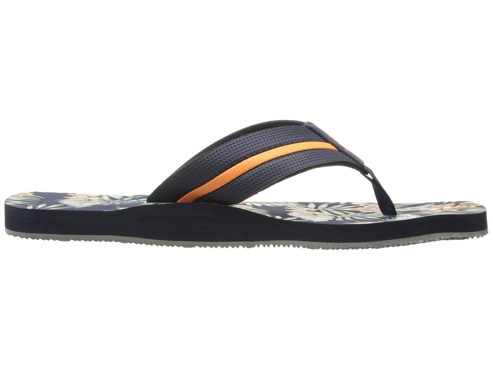 9242f1efea58 Tommy Bahama Mens Taheeti Print Ocean Depth Flip Flop Sandals