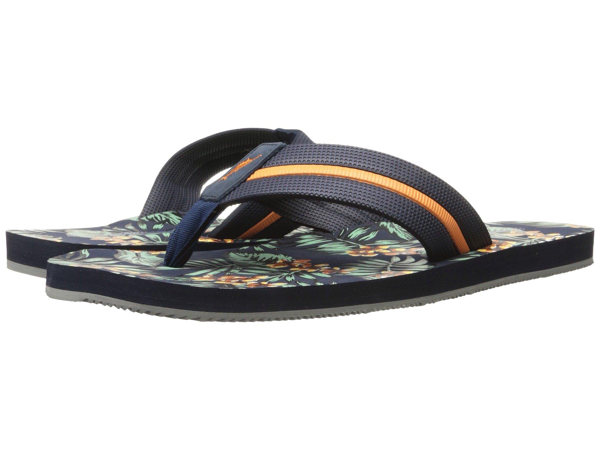 6c1b6f26a193a Tommy Bahama Mens Taheeti Print Ocean Depth Flip Flop Sandals