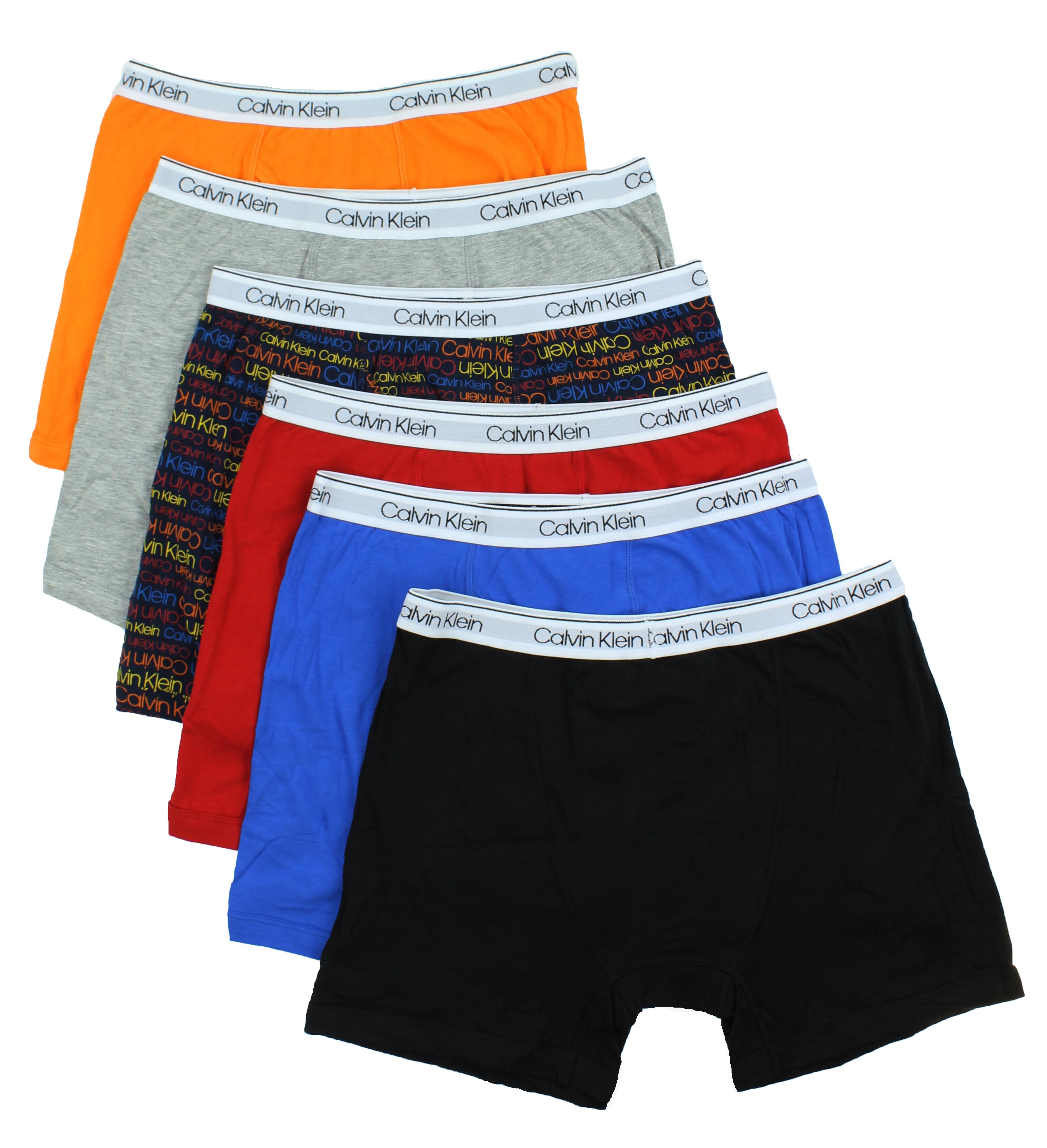 eecb01c096d430 Calvin Klein Boys 6 Pack Cotton Stretch Boxer Brief Underwear | eBay