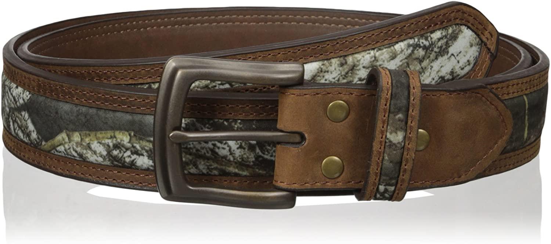 Nocona-Men-039-s-Mossy-Oak-Camo-Center-Inlay-Leather-Belt thumbnail 4