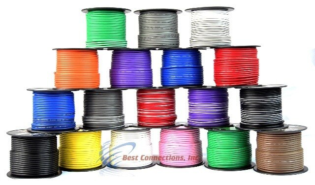 6 Rolls 100/' Feet 14 GA Gauge Primary Remote Wire Auto Power Cable Stranded