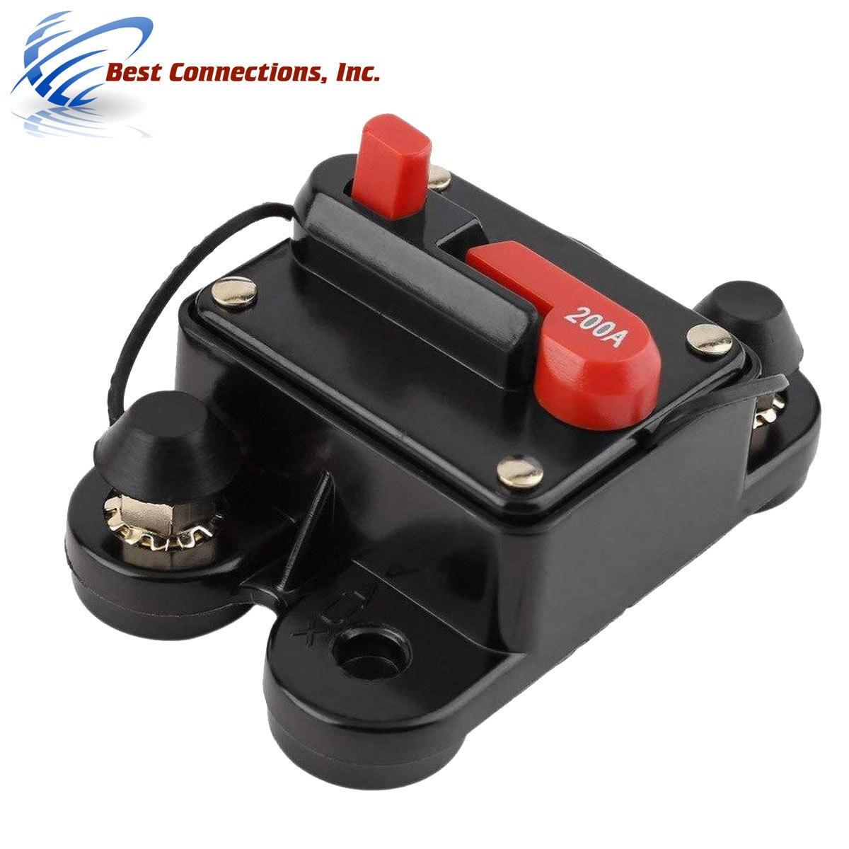 Motor Fuse Holders Inverter Circuit Breaker Car Audio Solar Energy Inline Circuit Breaker Fuse Inverter With Waterproof Cover For Motor Auto Car Marine Boat 80A