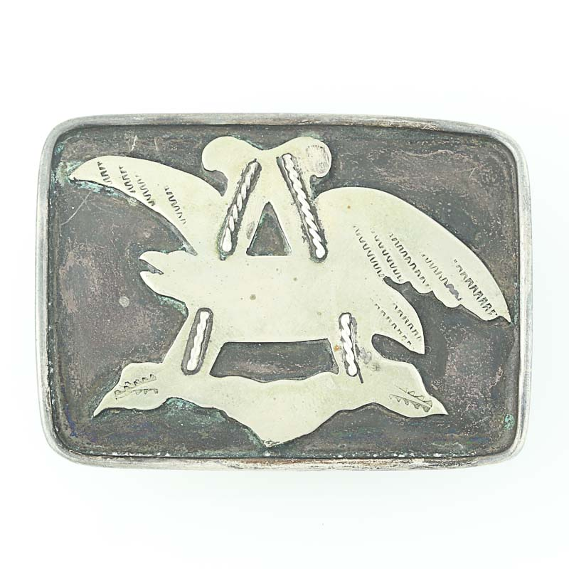 Native American Belt Buckle Sterling Silver Custom Anheuser Busch