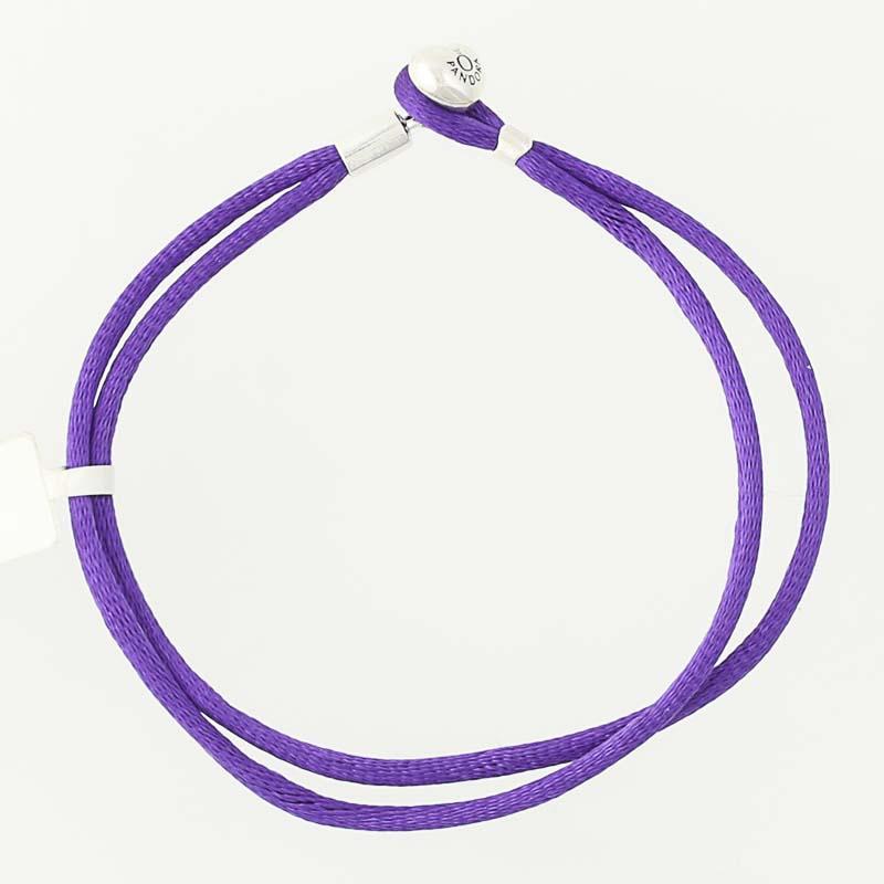 81c4dd143 NEW Authentic Pandora Purple Friendship Bracelet - Sterling 590749CPE-S2  7.1