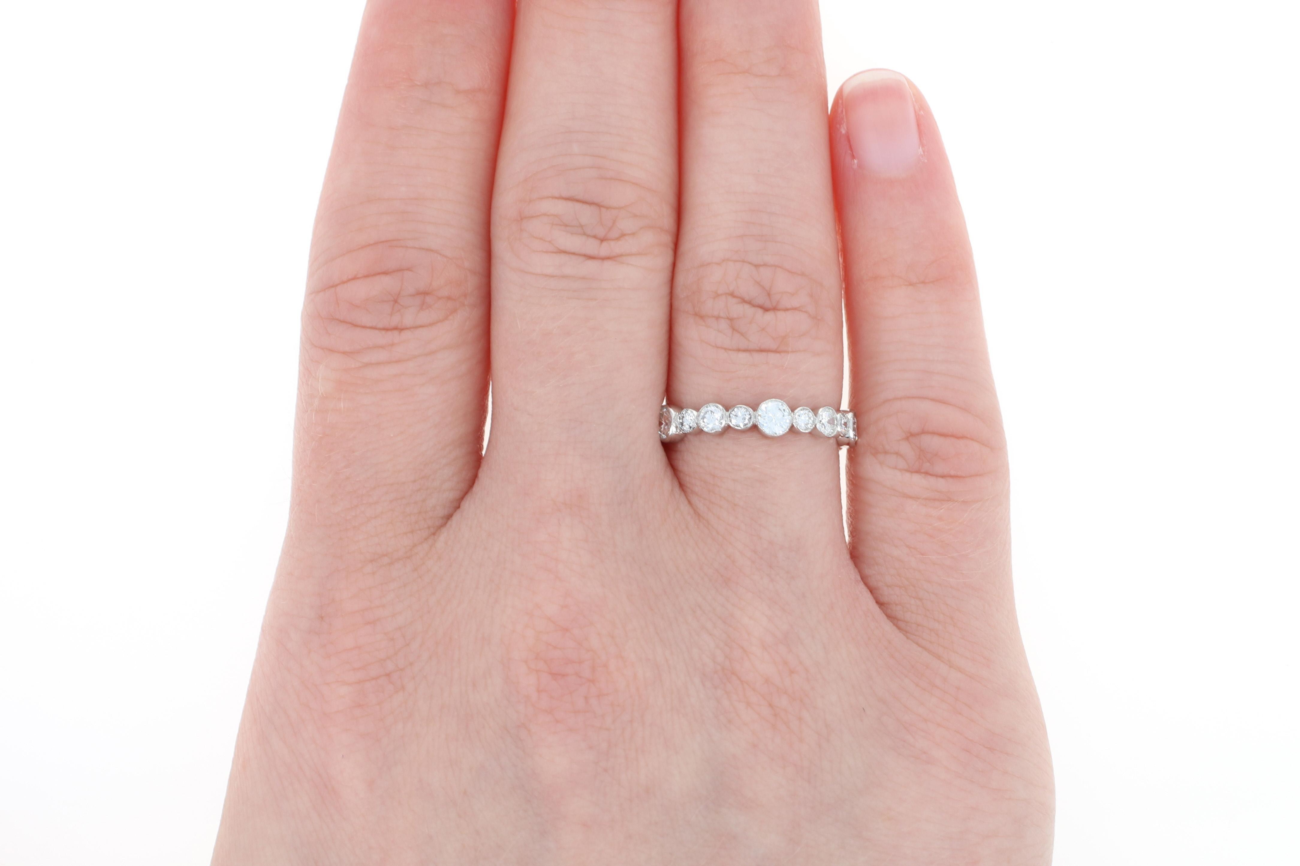 Tiffany & Co. Diamond Eternity Band - 950 Platinum Wedding Ring ...