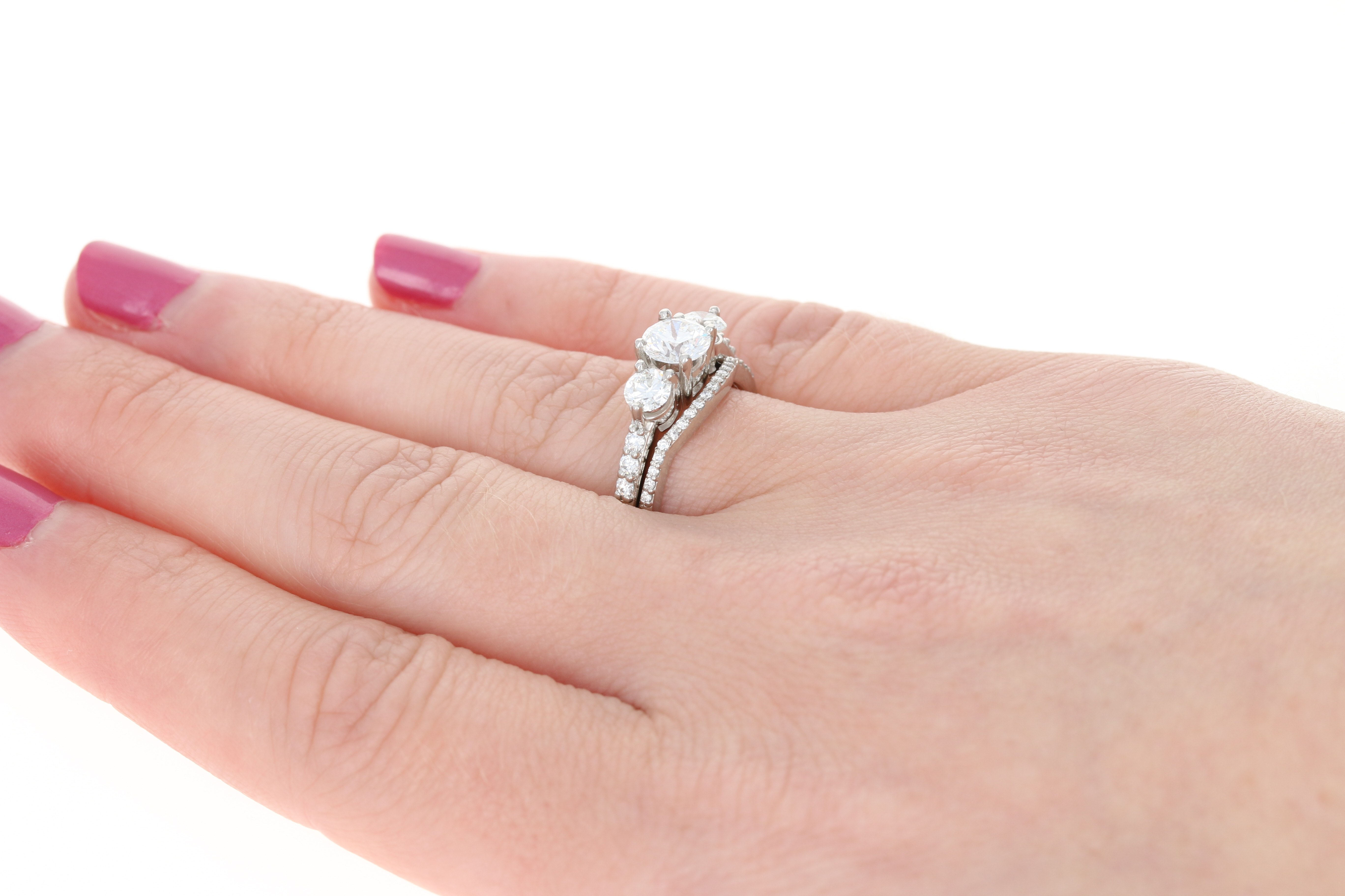 Wedding Bride Asscher Cut Pink /& White Topaz Silver Ring Size N P R T Jewelry