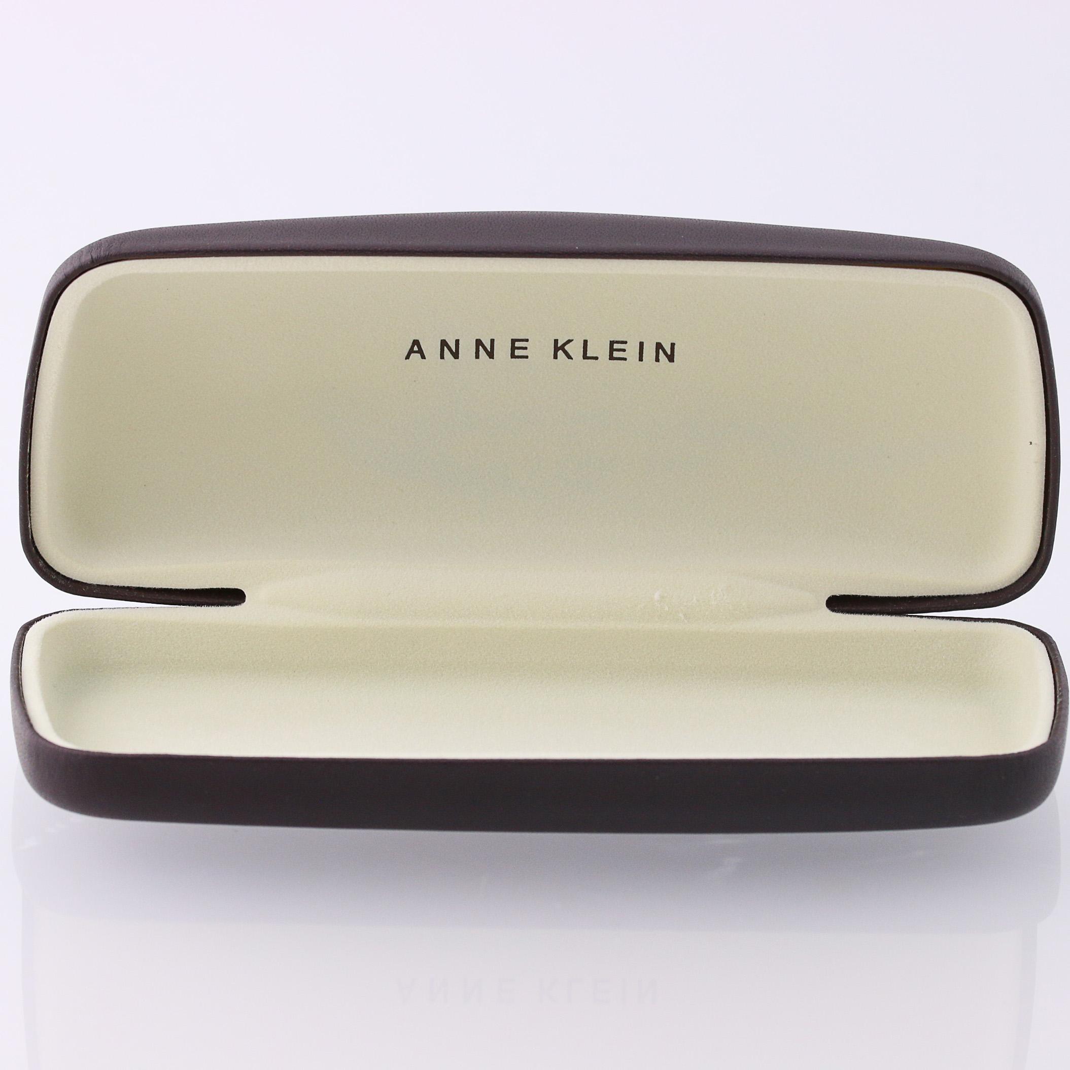 Cream Hinged Hard Details Designer Lion Klein Eyewear Sunglasses Brown Holder Case About Anne SVqUMpzGjL