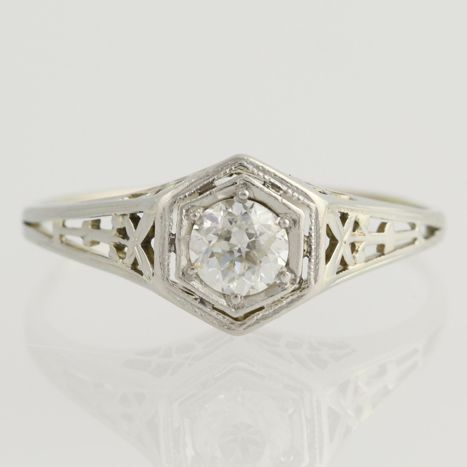 Old Fashioned  Stone Diamond Ring