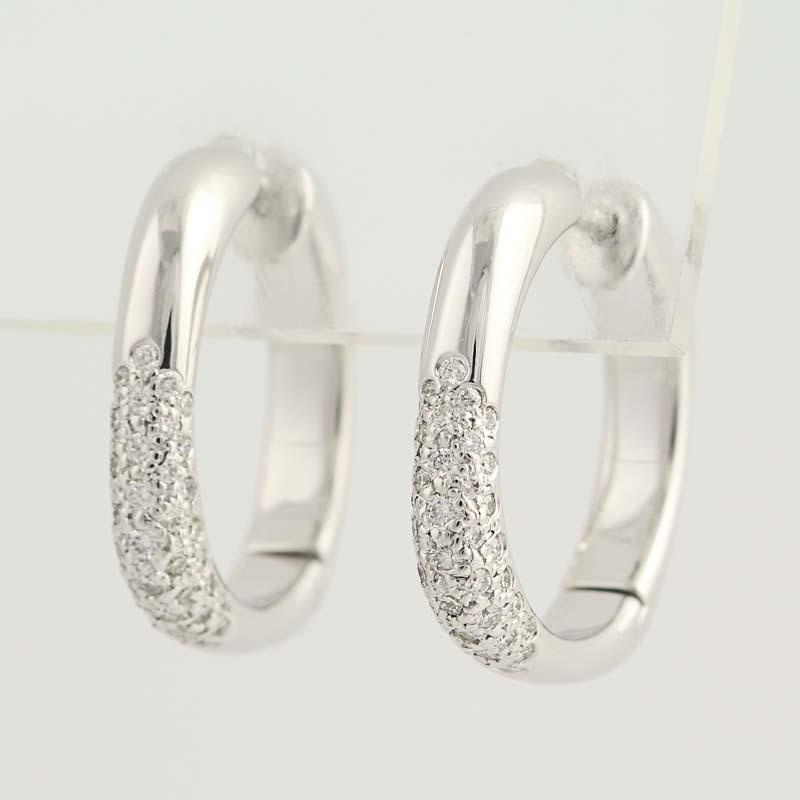 ecd44f18d Tiffany & Co. Diamond Cushion Hoop Earrings - 18k White Gold Pierced ...