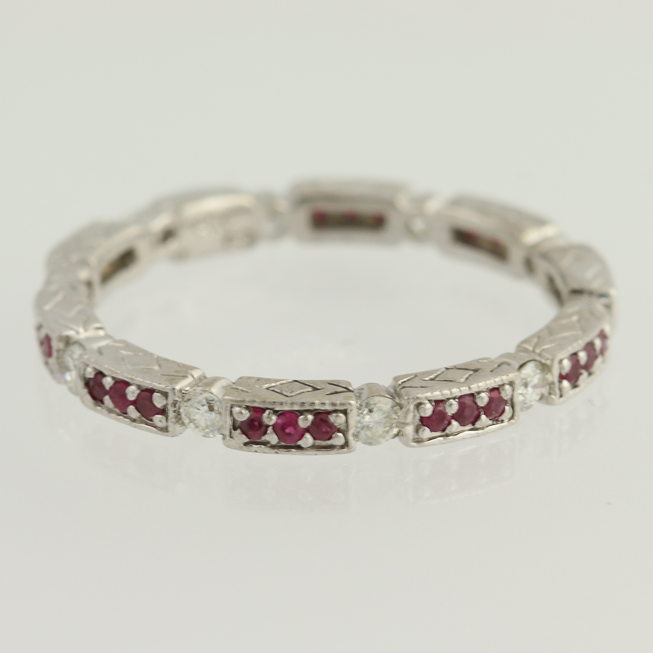 bands from white dress gold eternity ruby diamond band avanti womens image rings ring and