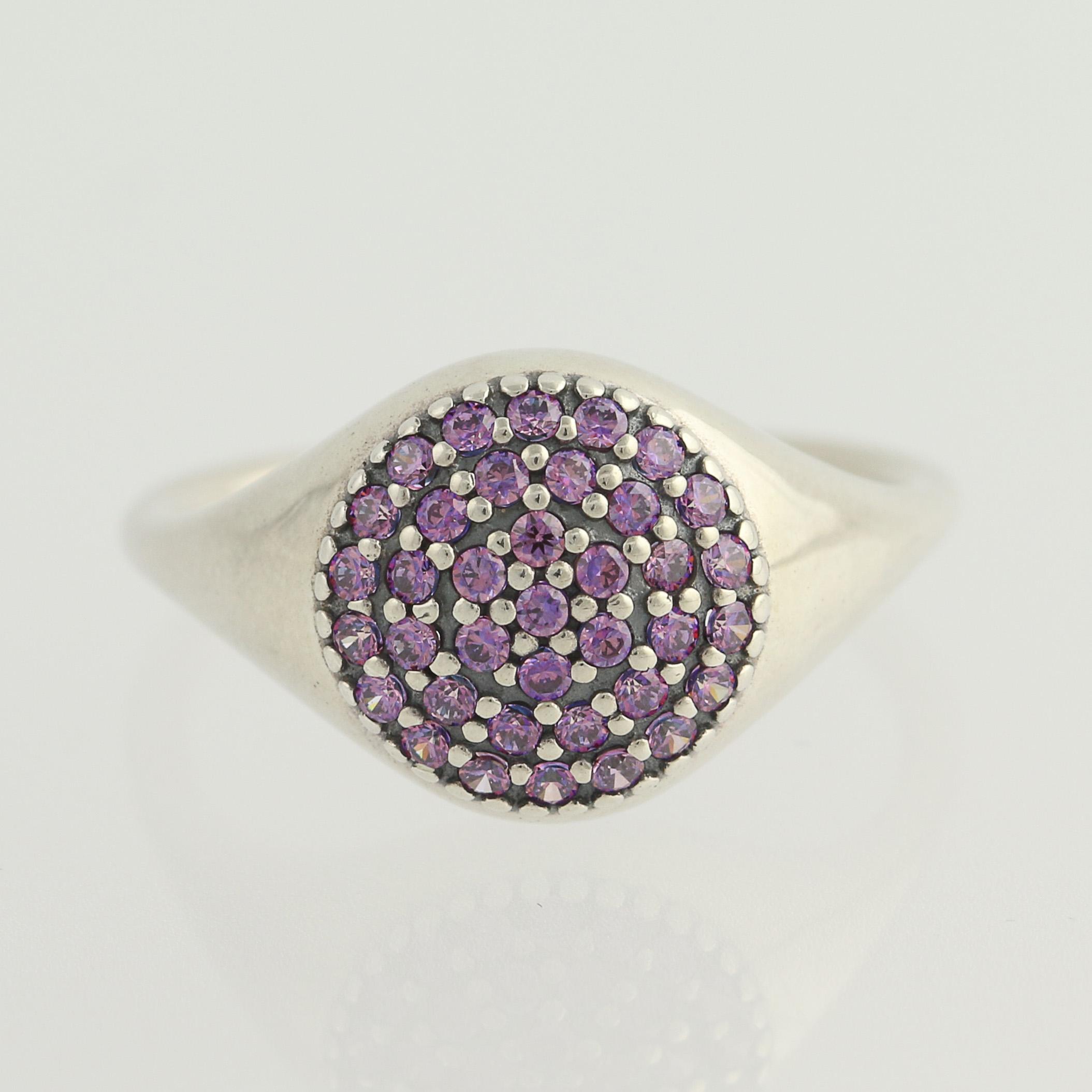 c64da5c26 New Pandora Ring - 190888CFP Large Pave Purple CZ Sterling Silver 7 ...