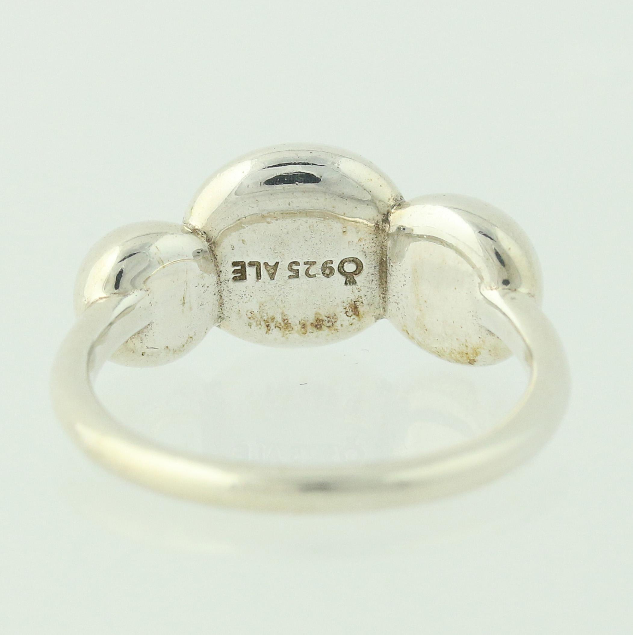 308a1c8da New Authentic Pandora Ring 190702 Triple Bubble Retired Sterling ...