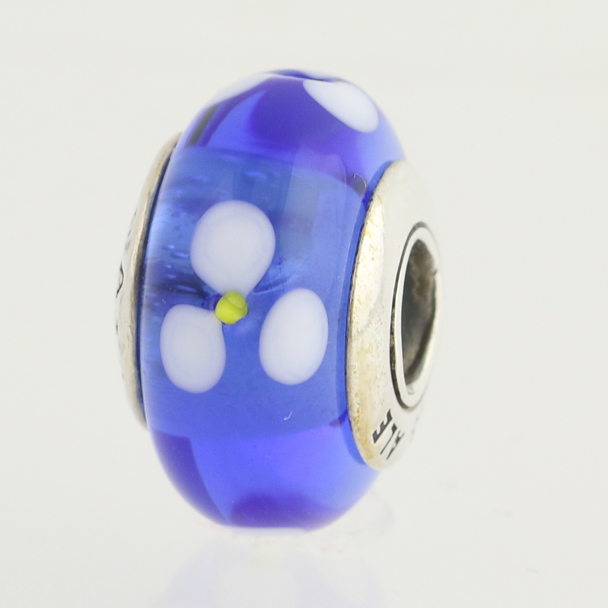 New pandora blue flowers bead sterling silver charm 790609 ebay click thumbnails to enlarge izmirmasajfo