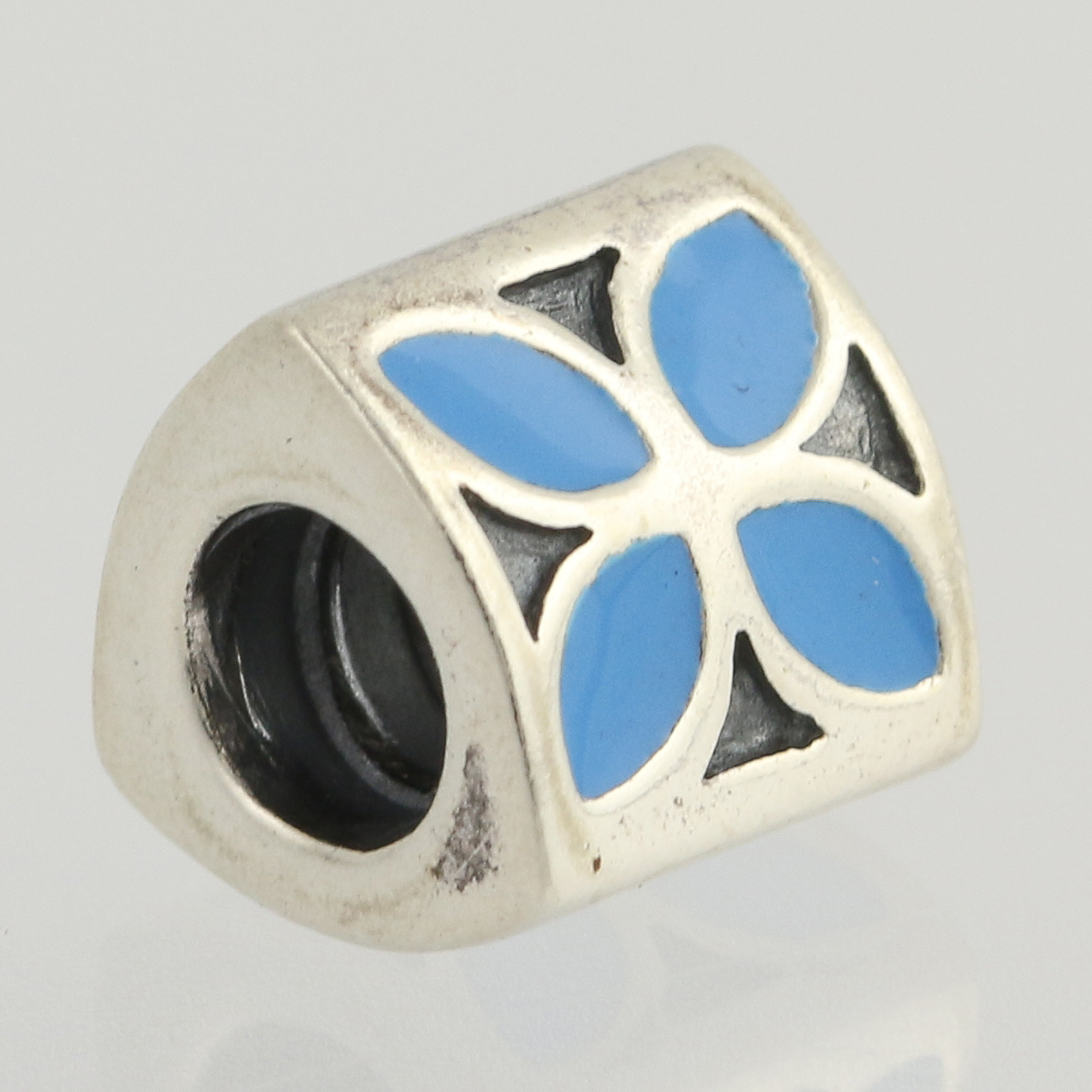 New authentic pandora blue flower charm sterling silver enamel click thumbnails to enlarge izmirmasajfo