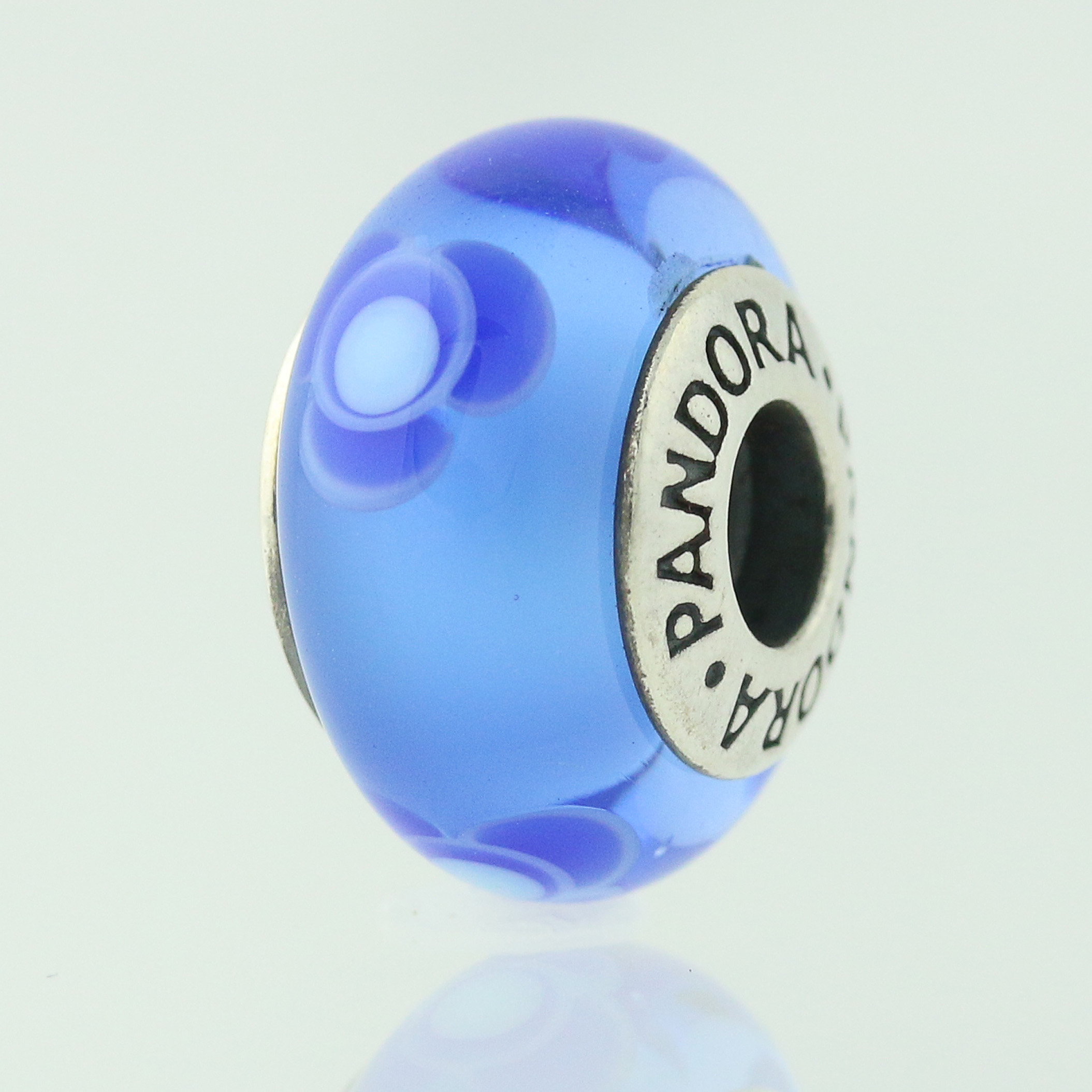 New pandora bead charm sterling murano glass 790644 blue flowers for click thumbnails to enlarge izmirmasajfo