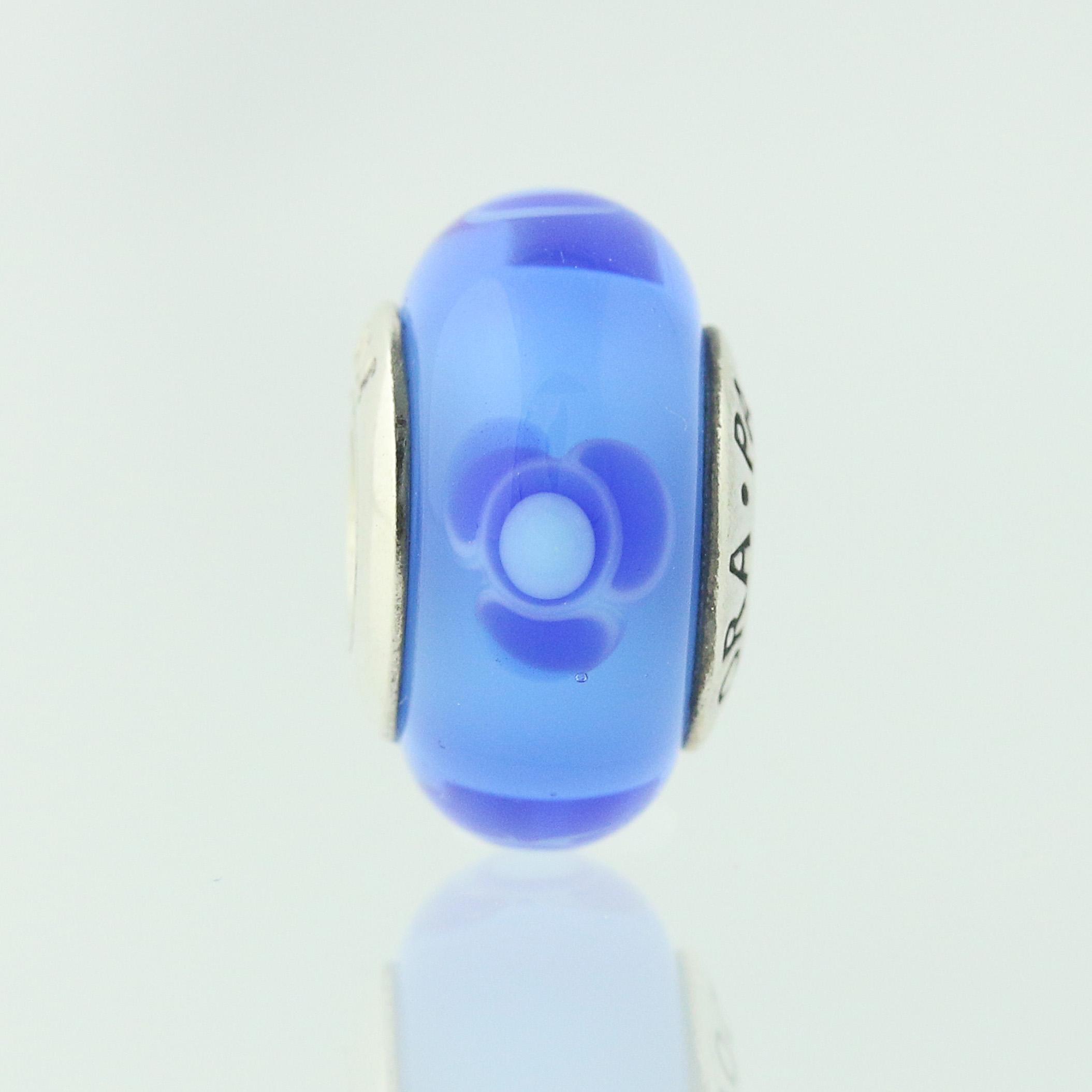 New pandora bead charm sterling murano glass 790644 blue flowers for new pandora bead charm sterling murano glass 790644 blue flowers for you retired izmirmasajfo