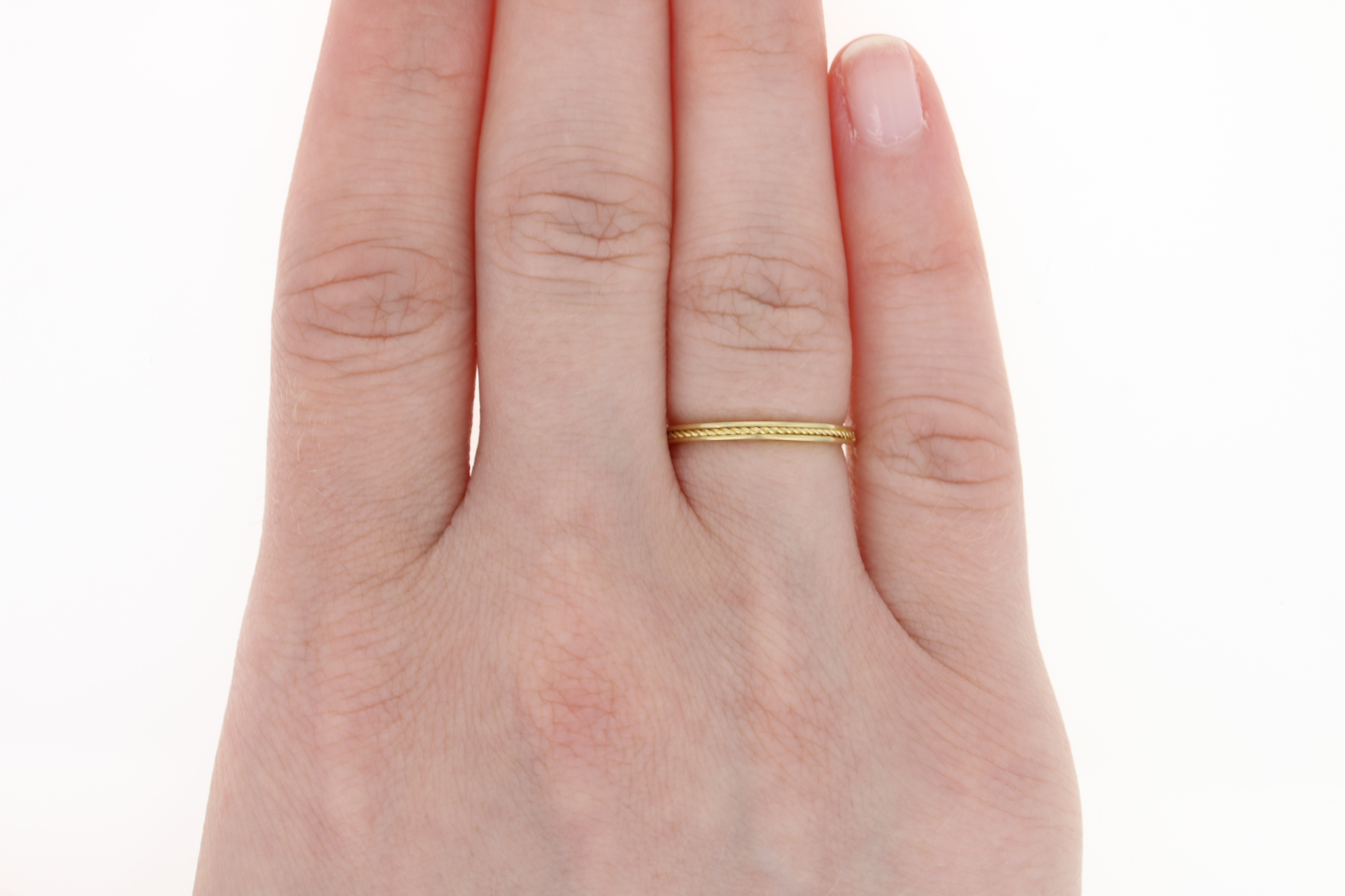 Twisted Rope Stackable Ring - 18k Yellow Gold Wedding Band Size 5 ...