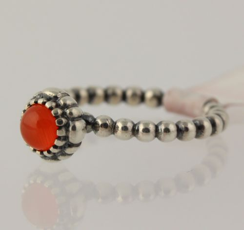 fc74543b4 NEW Pandora Carnelian Ring - Sterling Silver Band Women's 190854CAR Red  Stone