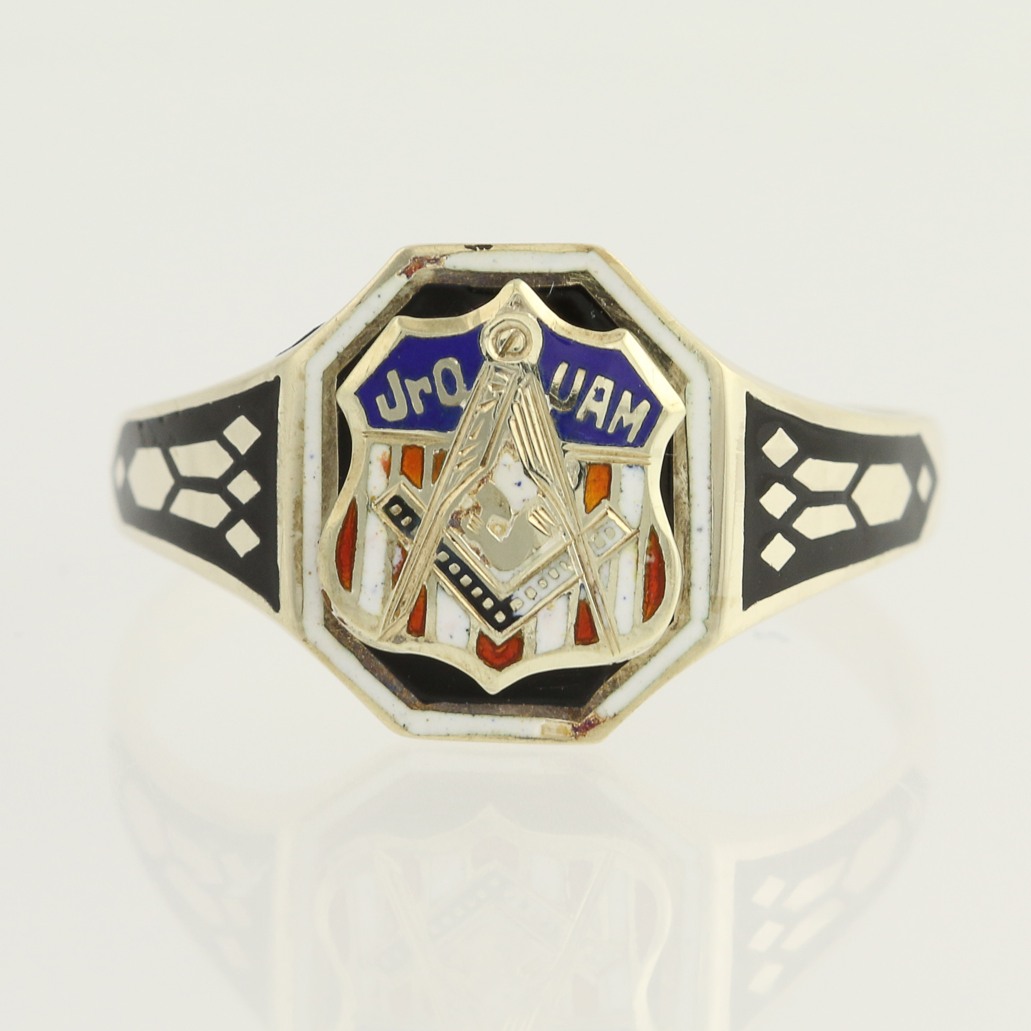 lodge diamonds ring crest platinum masonic thumbnails past blue gold rings to master enlarge click vintage itm